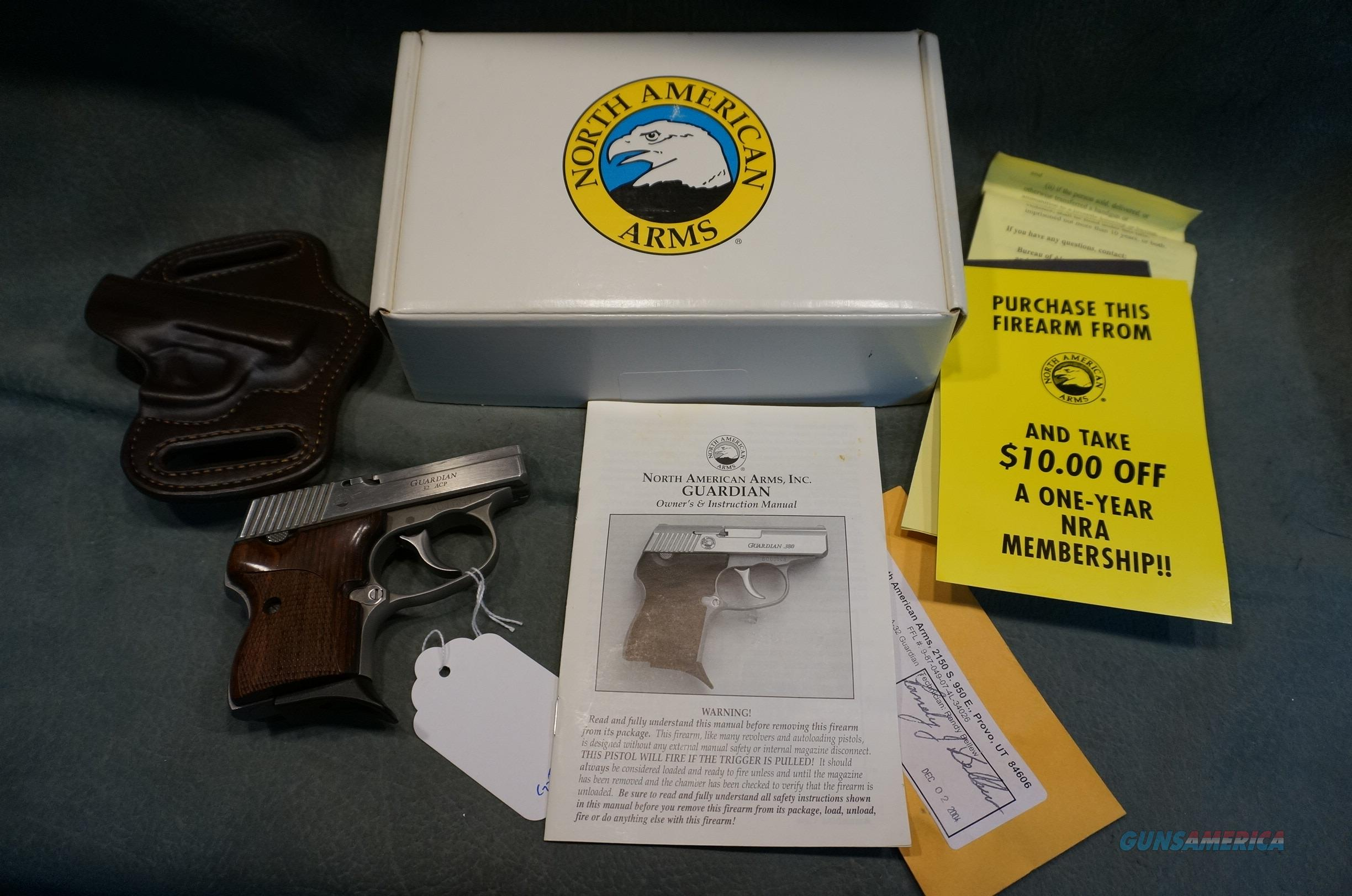 NAA 32ACP Guardian w/box papers,extras  Guns > Pistols > North American Arms Pistols
