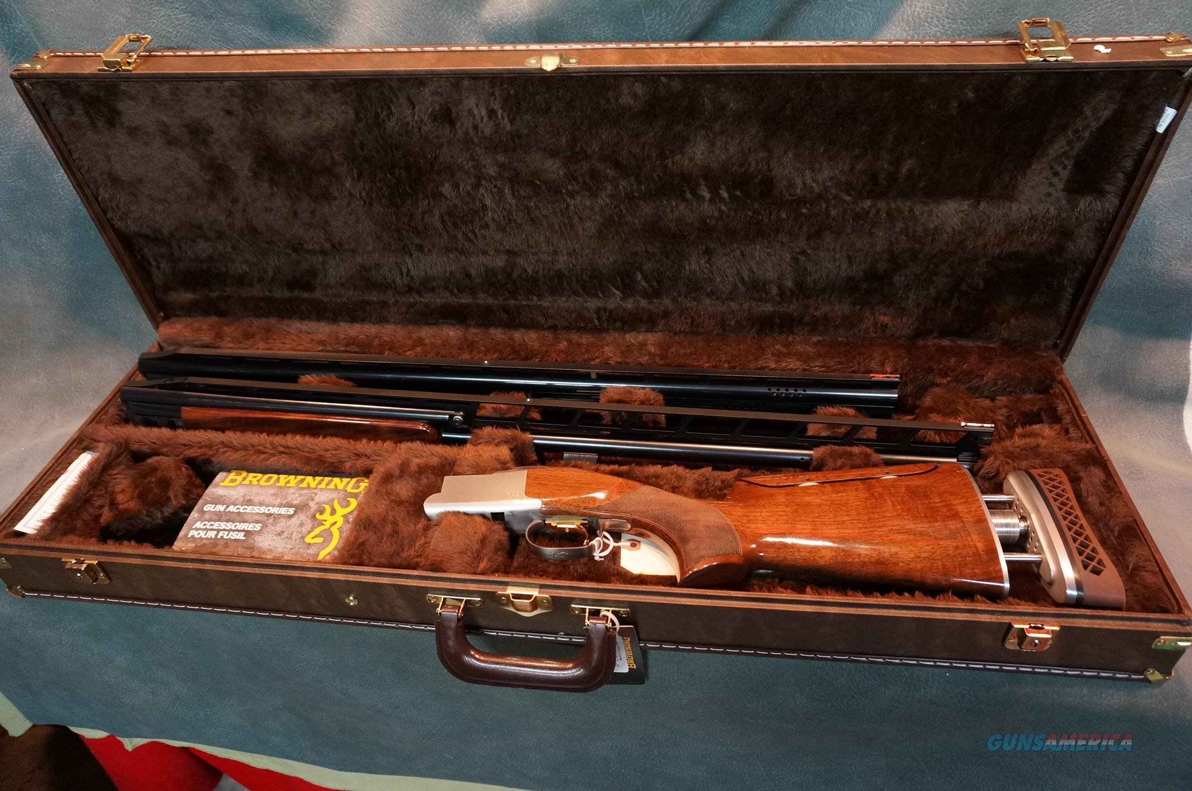 Browning 725 Citori Unsingle Trap Combo left hand palm swell  Guns > Shotguns > Browning Shotguns > Over Unders > Citori > Trap/Skeet