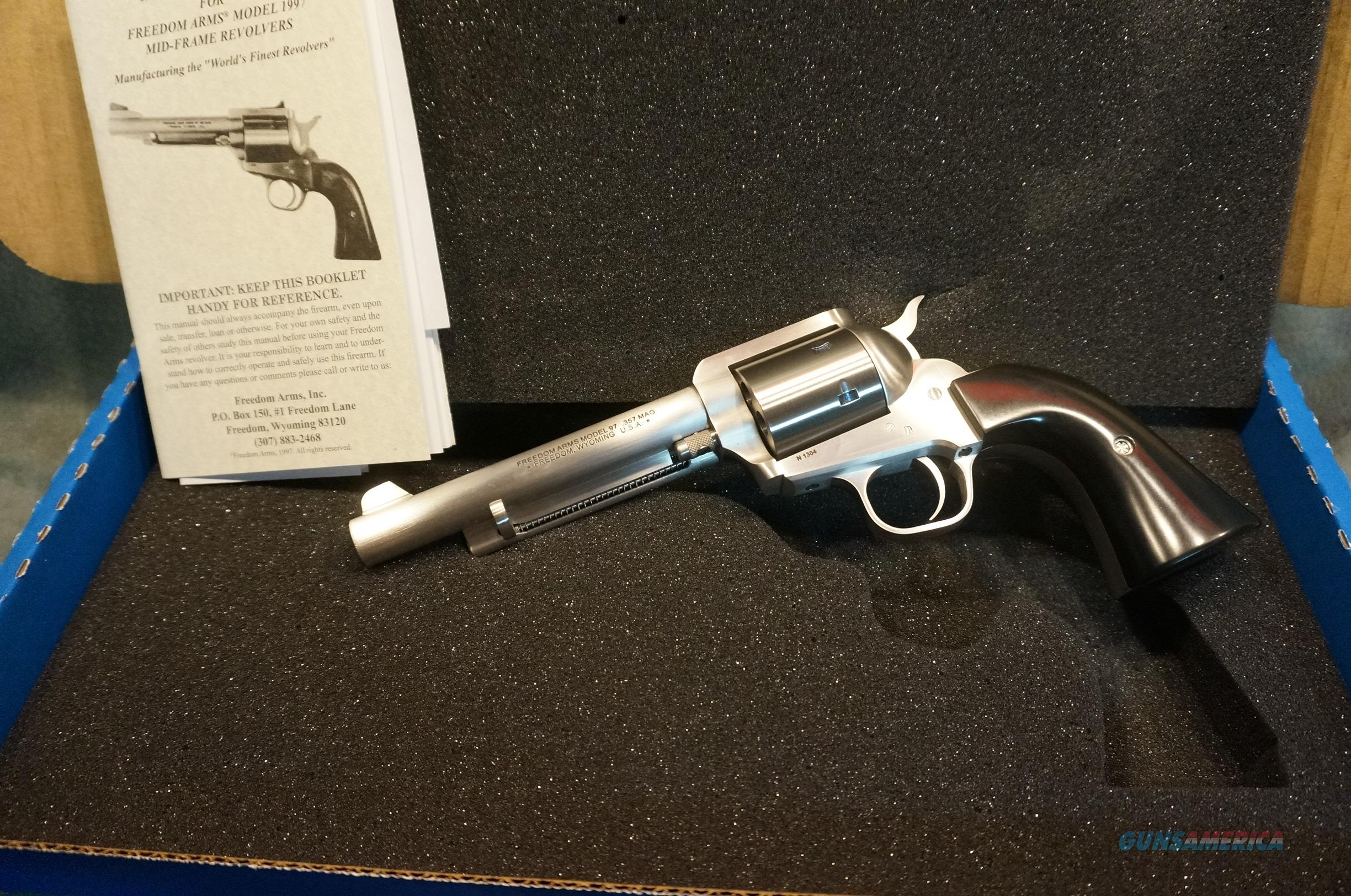 """Freedom Arms Model 97 357Mag 5 1/2"""" fixed sights  Guns > Pistols > Freedom Arms Pistols"""