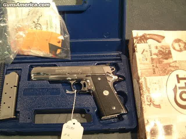 Gold Cup45ACP bright stainless  Guns > Pistols > Colt Automatic Pistols (1911 & Var)