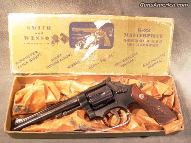 K-22 Masterpiece 22LR w/box  Guns > Pistols > Smith & Wesson Revolvers