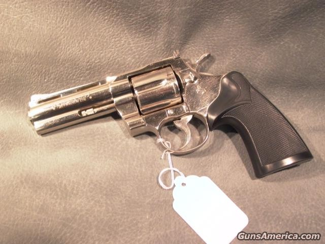 "Python 4"" 357Mag Nickel  Guns > Pistols > Colt Double Action Revolvers- Modern"