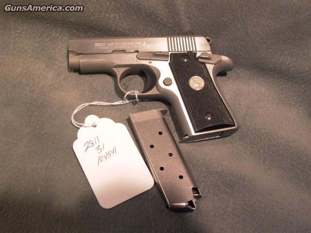 Mustang 380ACP Stainless  Guns > Pistols > Colt Automatic Pistols (.25, .32, & .380 cal)