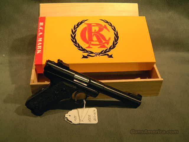 RCA Target Pistol engraved  Guns > Pistols > Ruger Semi-Auto Pistols > Mark II Family