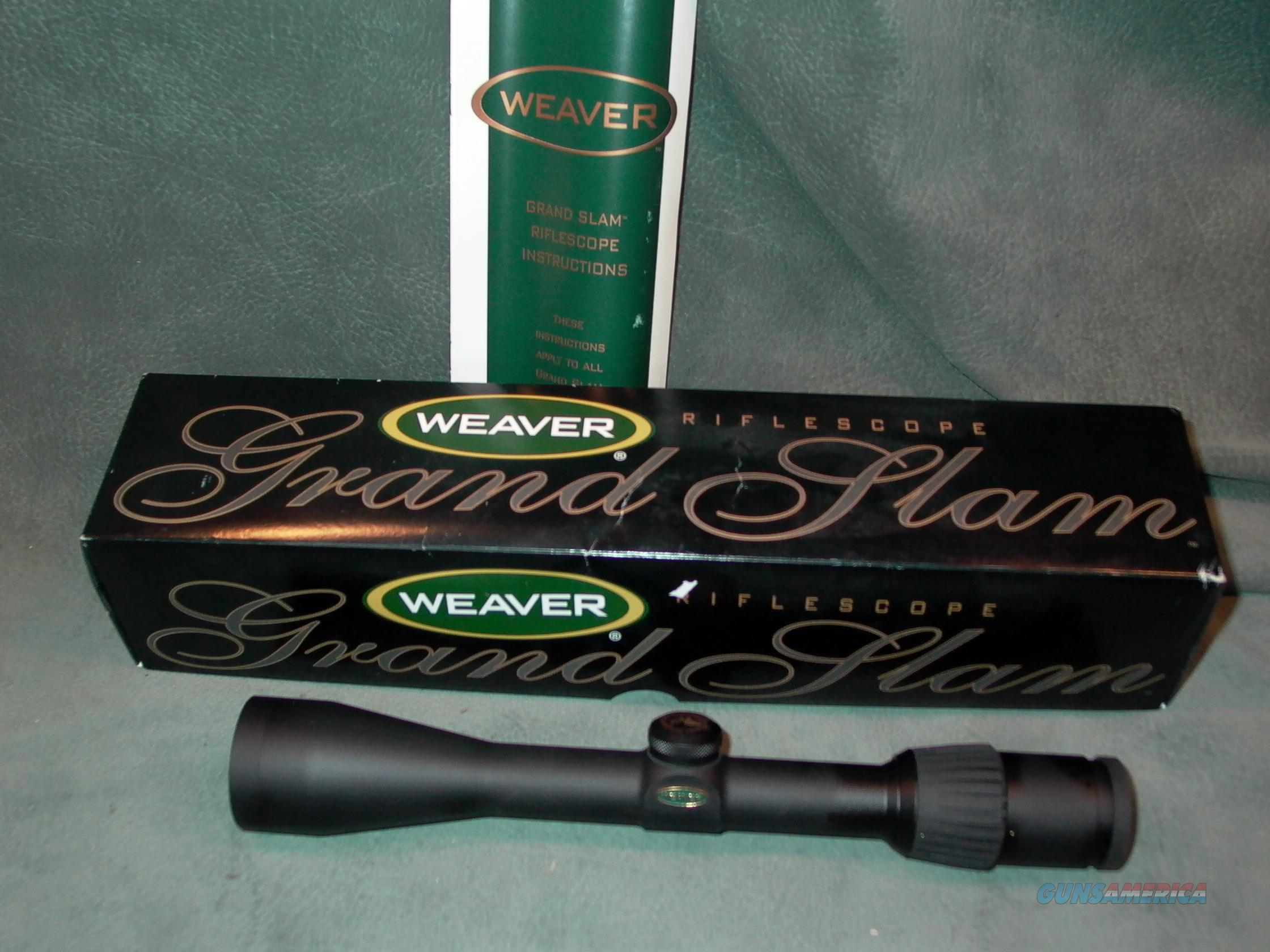 Weaver Grand Slam 3-10x40 RMEF  Non-Guns > Scopes/Mounts/Rings & Optics > Rifle Scopes > Variable Focal Length