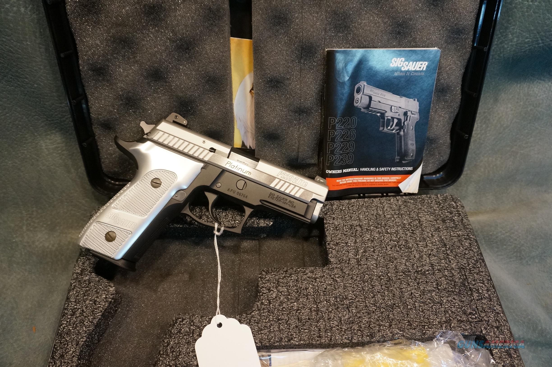 SigSauer P229 Platinum Elite 9mm LNIB  Guns > Pistols > Sig - Sauer/Sigarms Pistols > P229