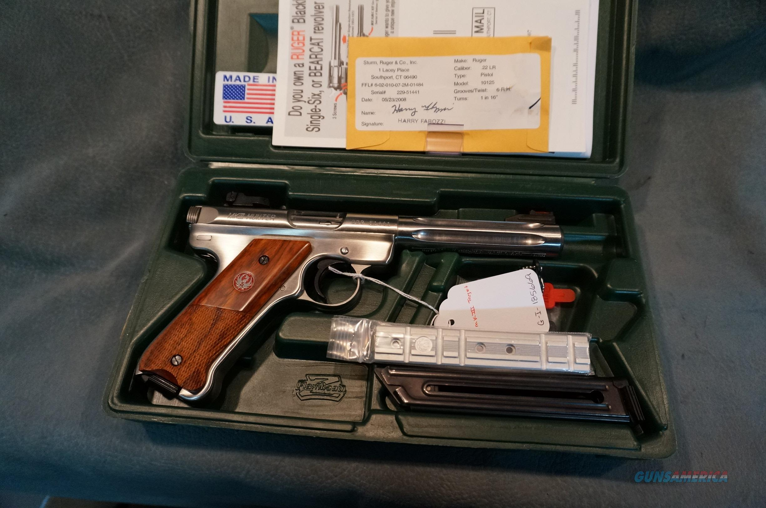 "Ruger Mark III 22LR 5 1/2"" stainless heavy barrel KMKIII512H  Guns > Pistols > Ruger Semi-Auto Pistols > Mark I/II/III/IV Family"