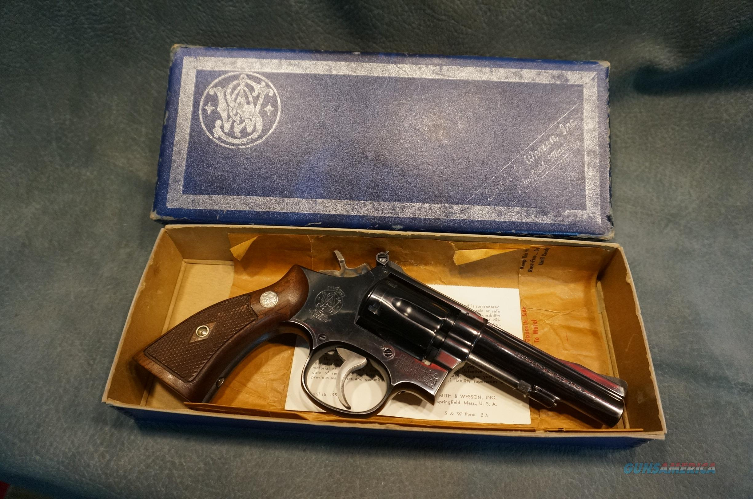 "S+W Model 18 no dash 4"" bbl 95-97% with box  Guns > Pistols > Smith & Wesson Revolvers > Med. Frame ( K/L )"