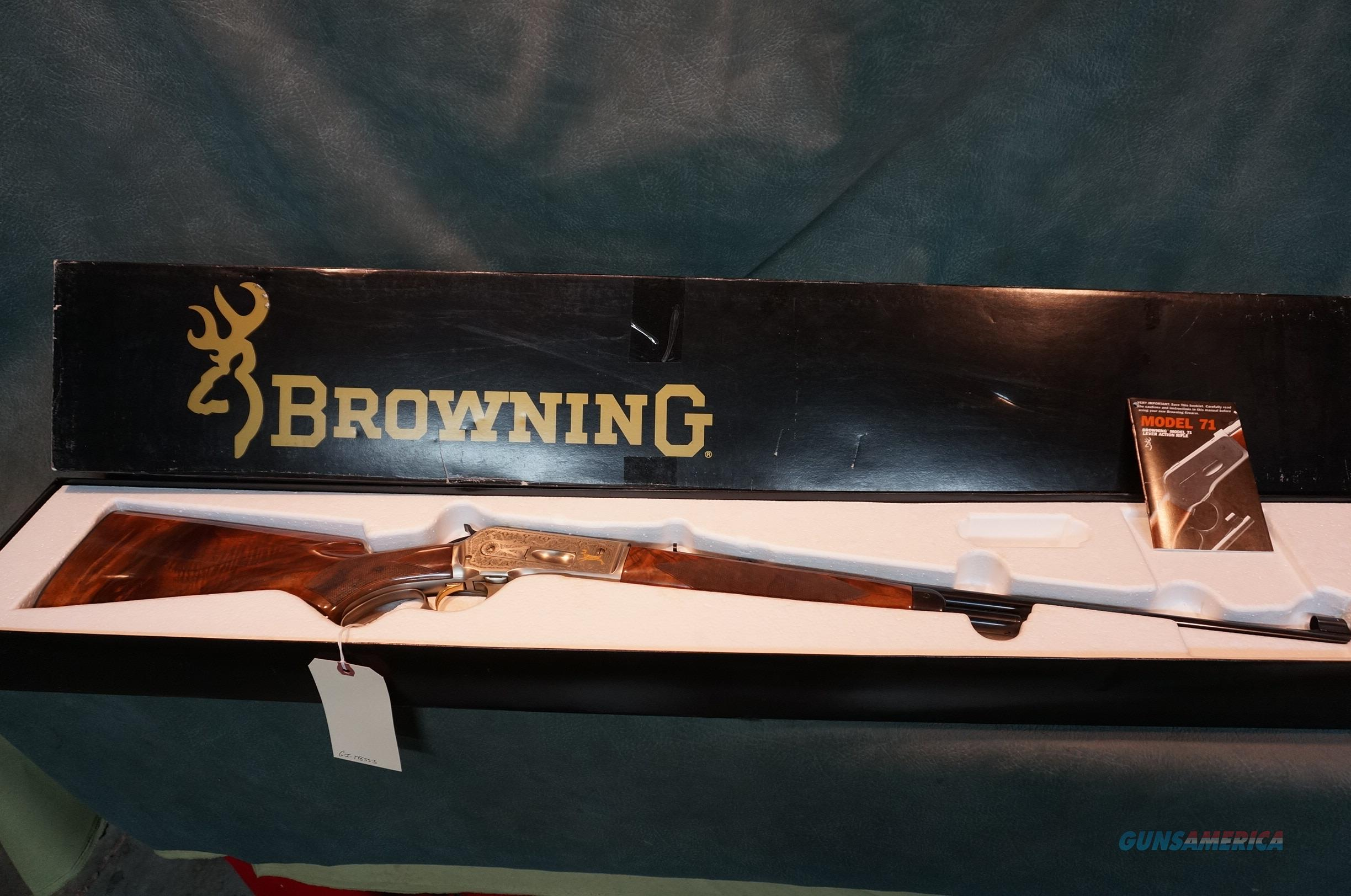 Browning M71 348Win High Grade Rifle  Guns > Rifles > Browning Rifles > Lever Action