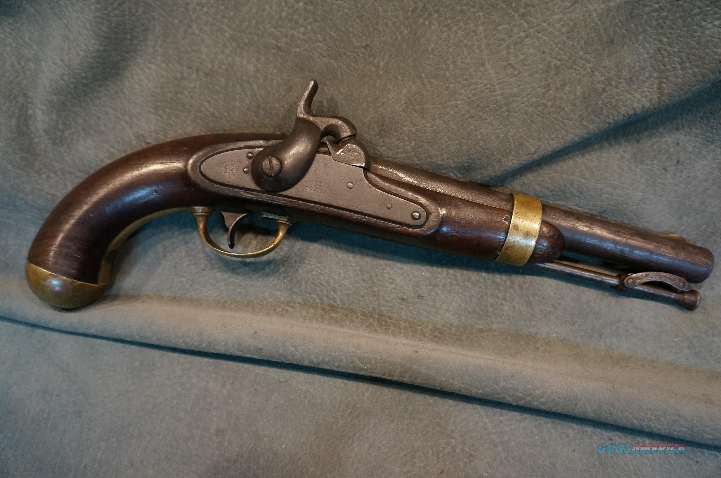 U.S. Model 1842 Percussion Pistol Aston 54cal  Guns > Pistols > Antique (Pre-1899) Pistols - Perc. Misc.