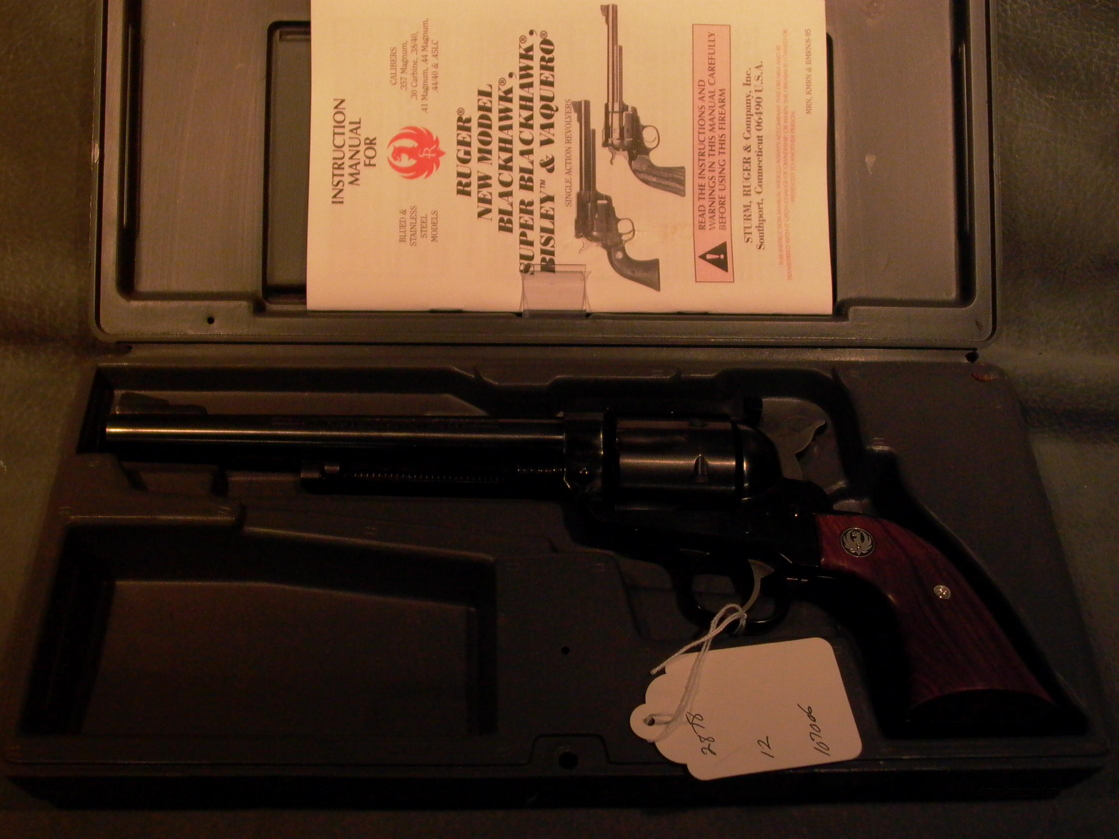 Ruger NM Blackhawk .30  Guns > Pistols > Ruger Single Action Revolvers > Blackhawk Type