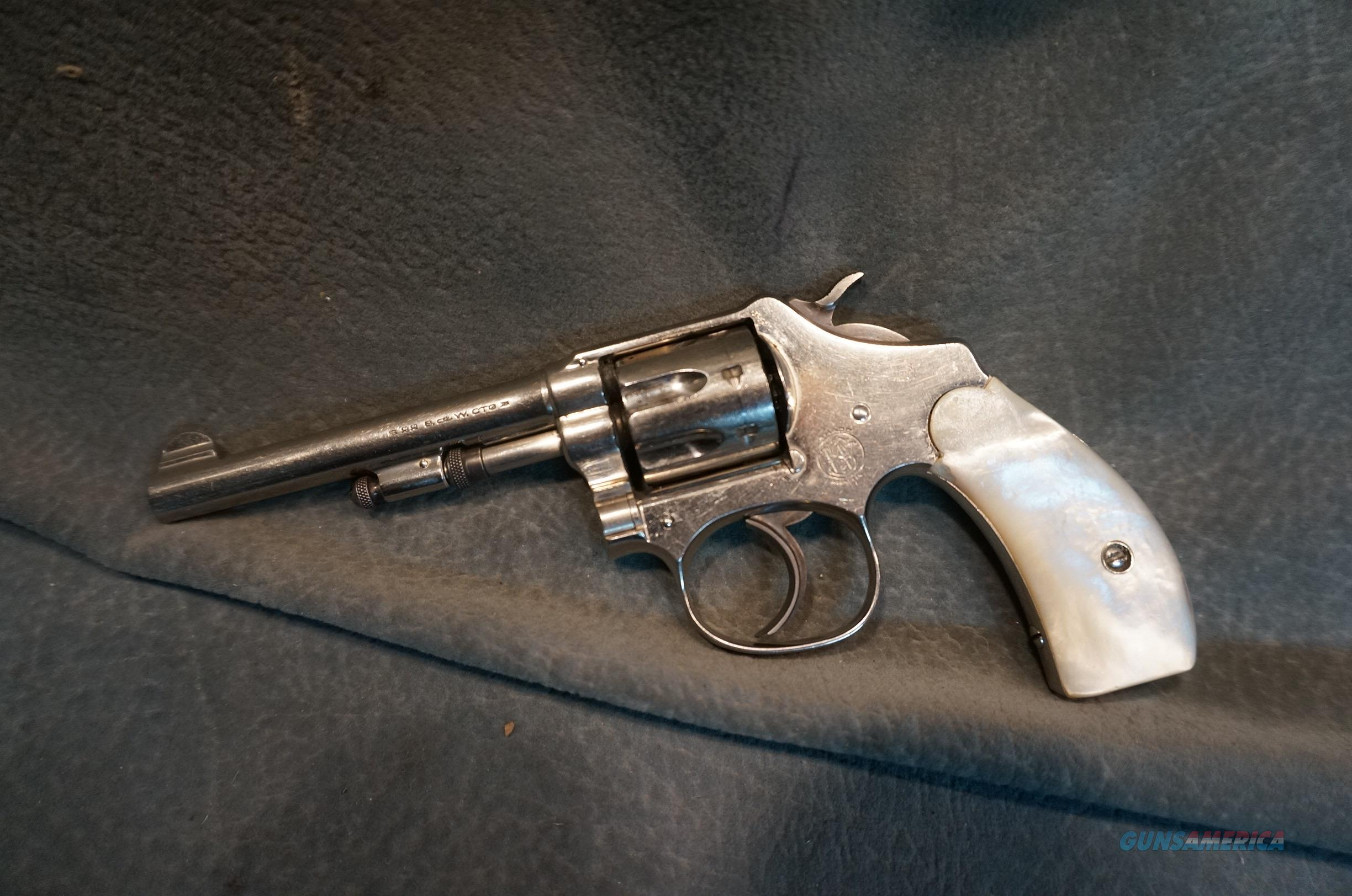 S+W Ladysmith 22Long Nickel with pearl grips  Guns > Pistols > Smith & Wesson Revolvers > Pre-1945
