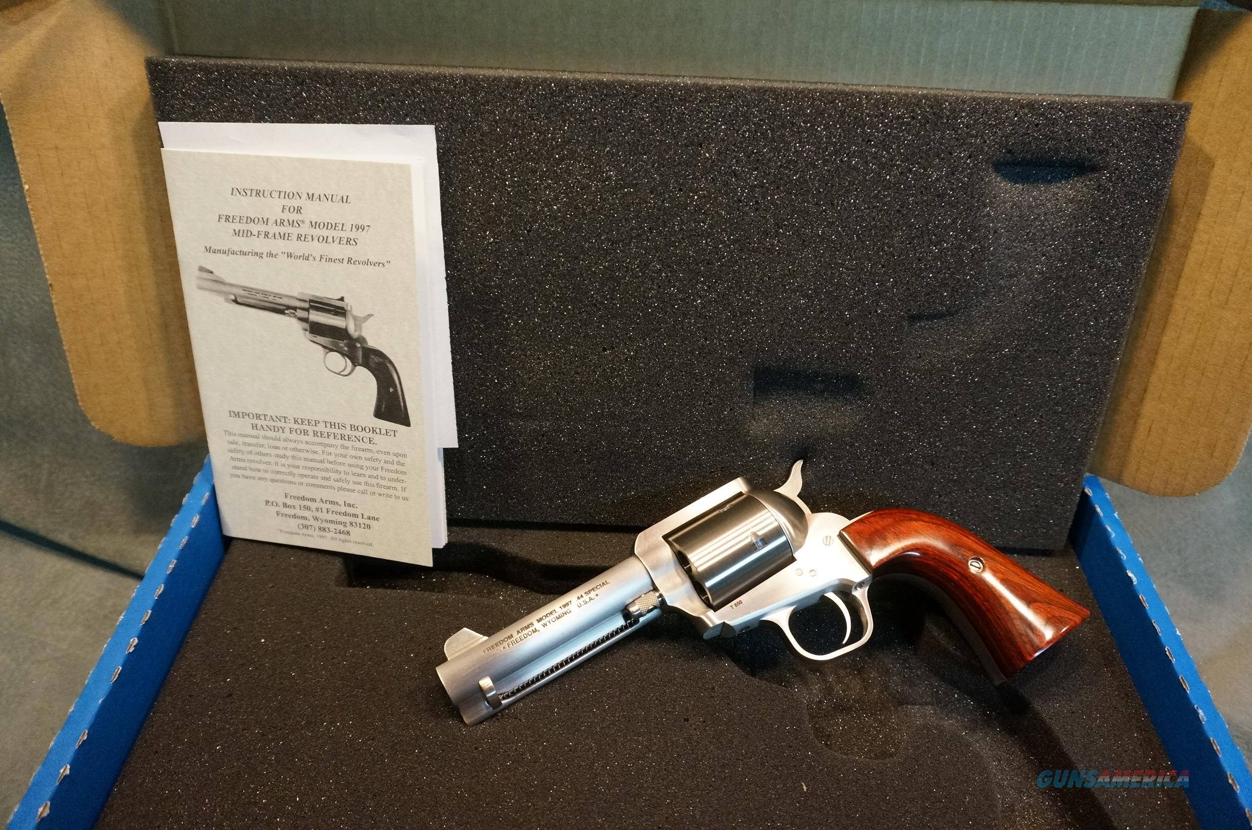 """Freedom Arms Model 97 Premier Grade 44Sp 4 1/4"""" fixed sights  Guns > Pistols > Freedom Arms Pistols"""