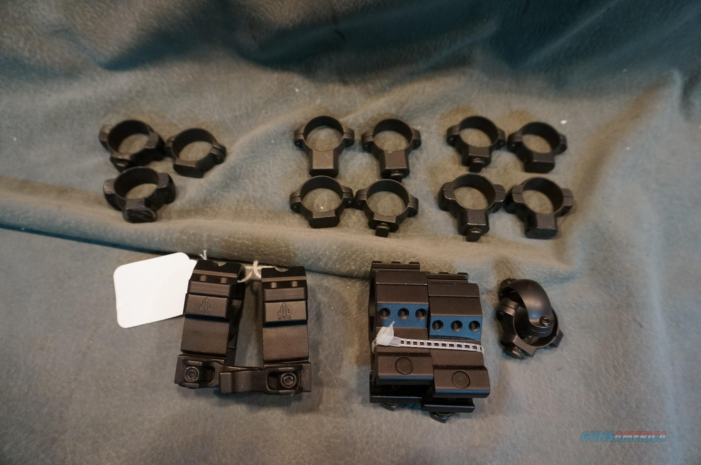 7 sets of scope rings   Non-Guns > Scopes/Mounts/Rings & Optics > Mounts > Other