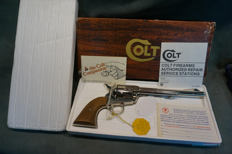 "Colt SAA 44Sp 7 1/2"" Nickel,new in the box.  Guns > Pistols > Colt Single Action Revolvers - 3rd Gen."