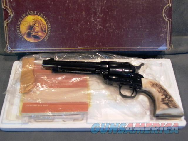 "Colt SAA 45LC 5 1/2"" All blue with factory stag grips NIB  Guns > Pistols > Colt Single Action Revolvers - 3rd Gen."