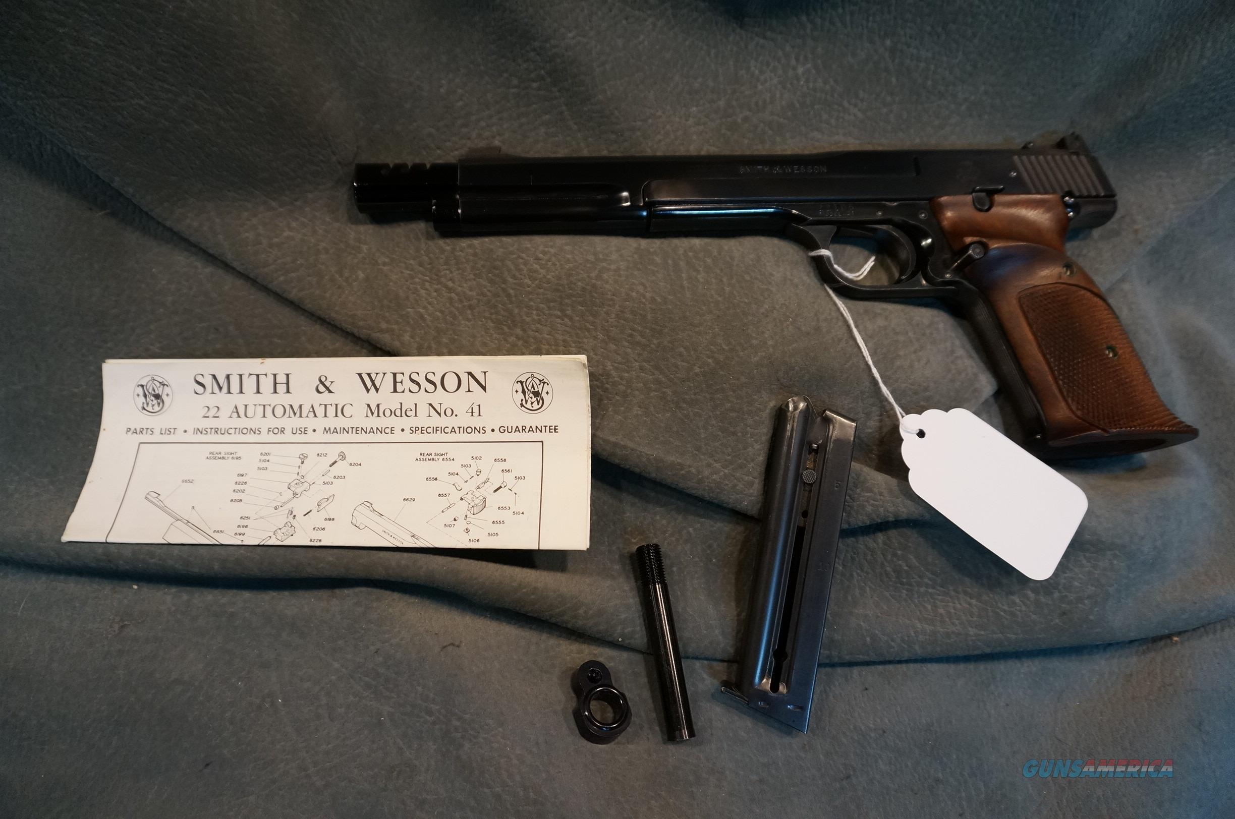"S+W Early Model 41 7 3/8"" bbl  Guns > Pistols > Smith & Wesson Pistols - Autos > .22 Autos"