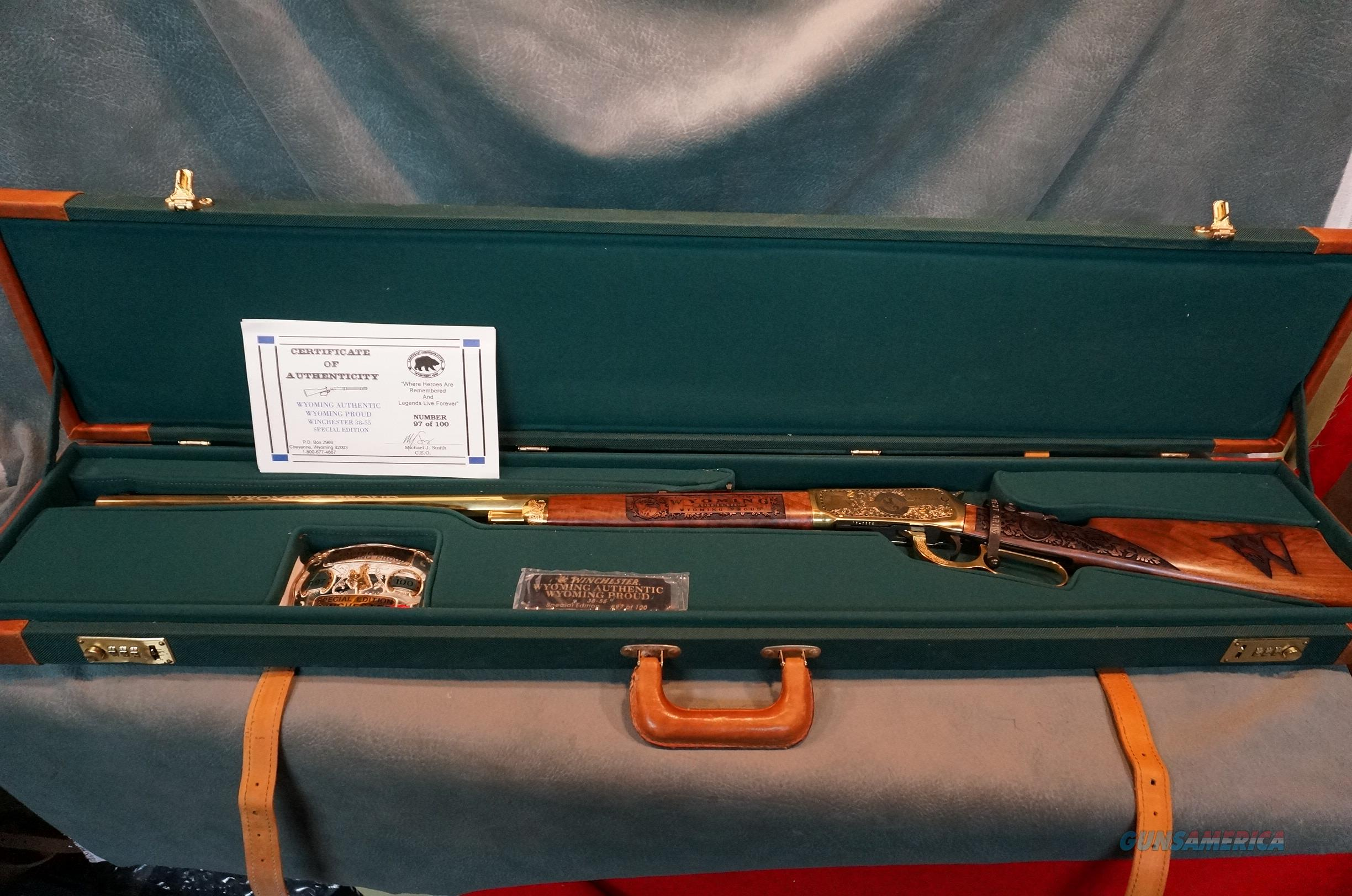 Winchester Wyoming Proud 38-55 Special Edition #97 of 100  Guns > Rifles > Winchester Rifle Commemoratives