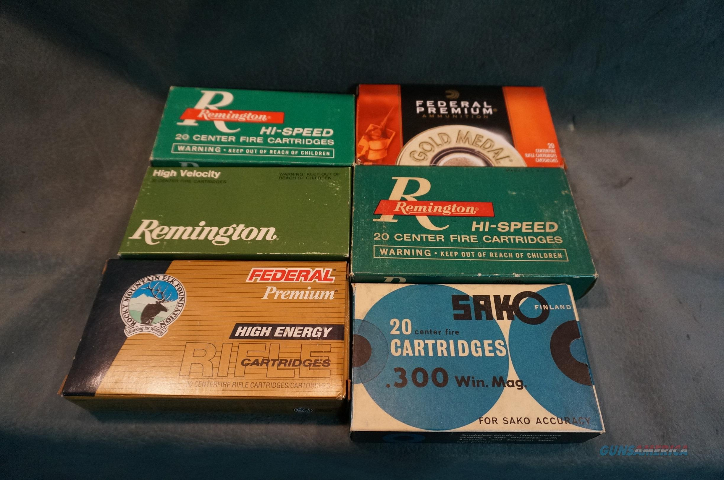 Factory Ammunition some Vintage,Sako,Remington,Federal  Non-Guns > Ammunition