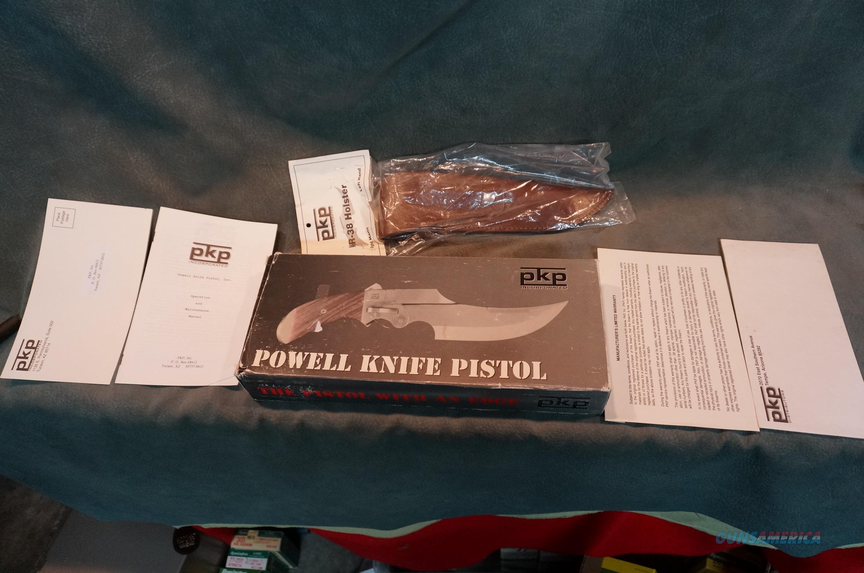 Powell Knife Pistol 38Sp NIB  Guns > Pistols > Collectible Pistols