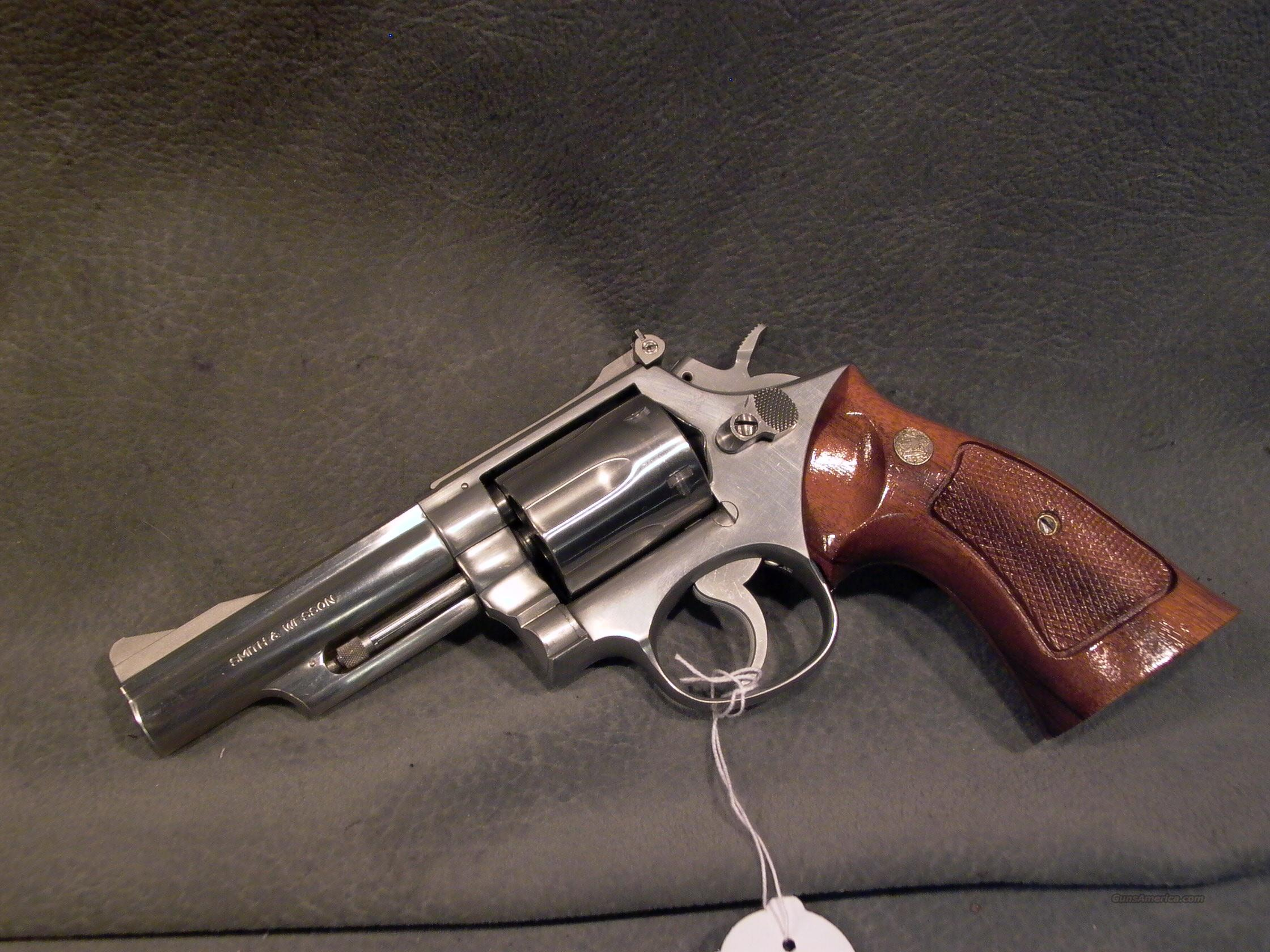 "S+W M66 357Mag 4"" stainless sights  Guns > Pistols > Smith & Wesson Revolvers > Full Frame Revolver"