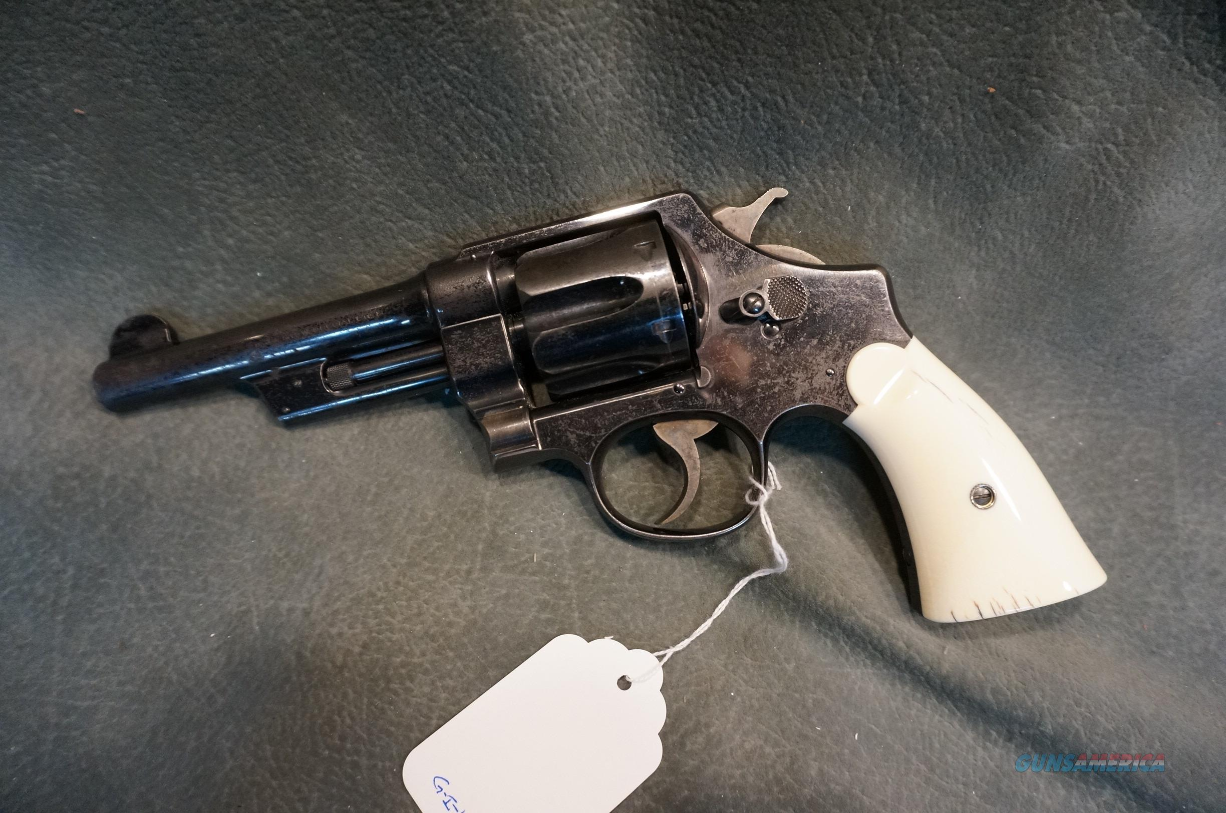 S+W  Triple Lock 44Sp with Ivory grips  Guns > Pistols > Smith & Wesson Revolvers > Pre-1945