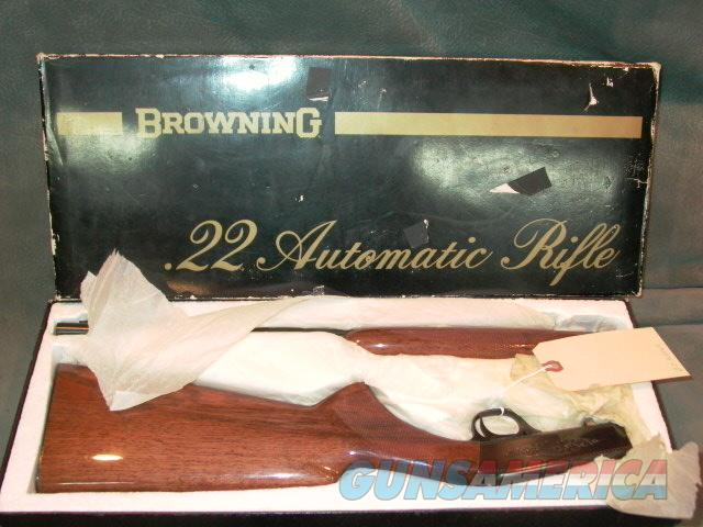 Belgian Browning 22LR Takedown NIB  Guns > Rifles > Browning Rifles > Semi Auto > Hunting