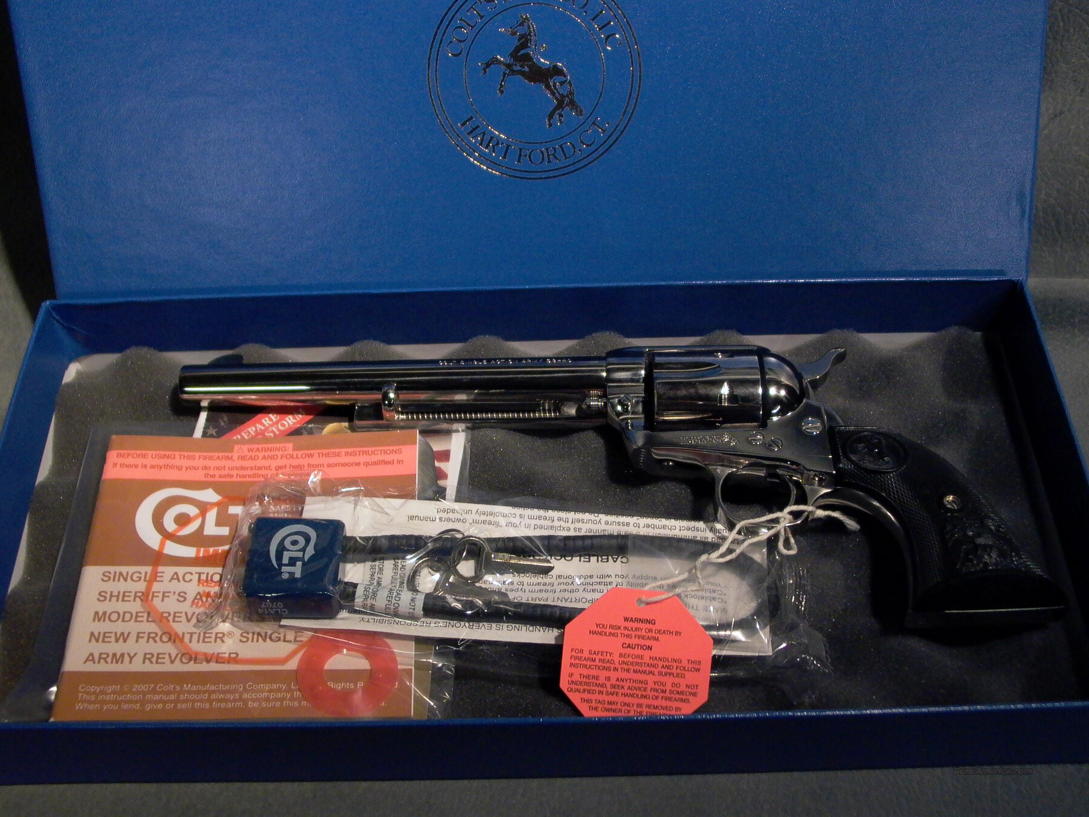 "Colt SAA 38-40 7 1/2"" nickel  Guns > Pistols > Colt Single Action Revolvers - 3rd Gen."