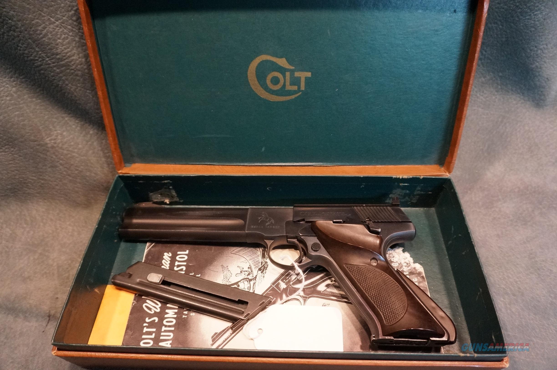 "Colt Woodsman Match Target 22LR 6"" 2nd Series w/box  1953  Guns > Pistols > Colt Automatic Pistols (22 Cal.)"