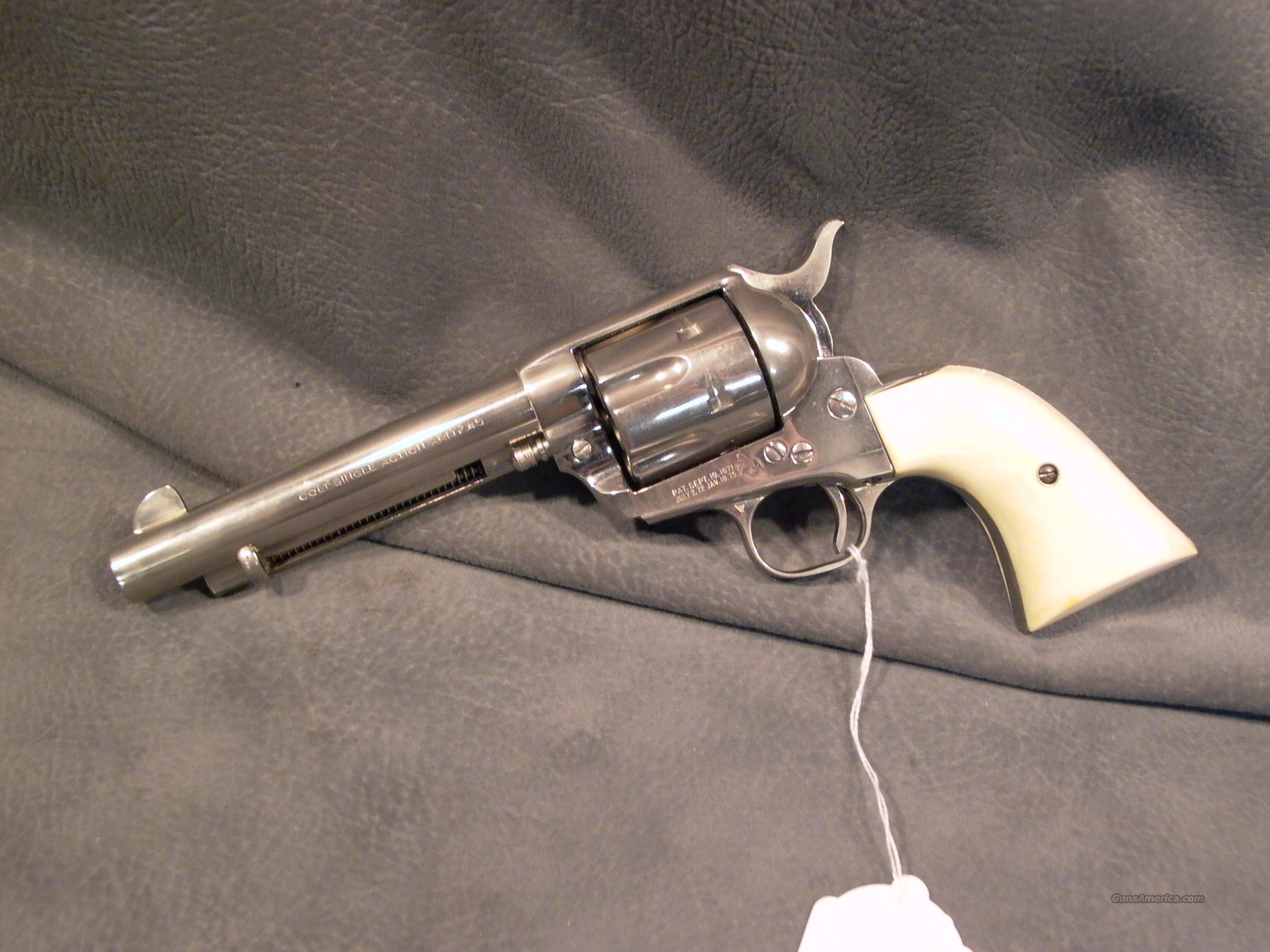 "Colt SAA 2nd Generation 45LC 5 1/2"" ivory  Guns > Pistols > Colt Single Action Revolvers - 2nd Gen."