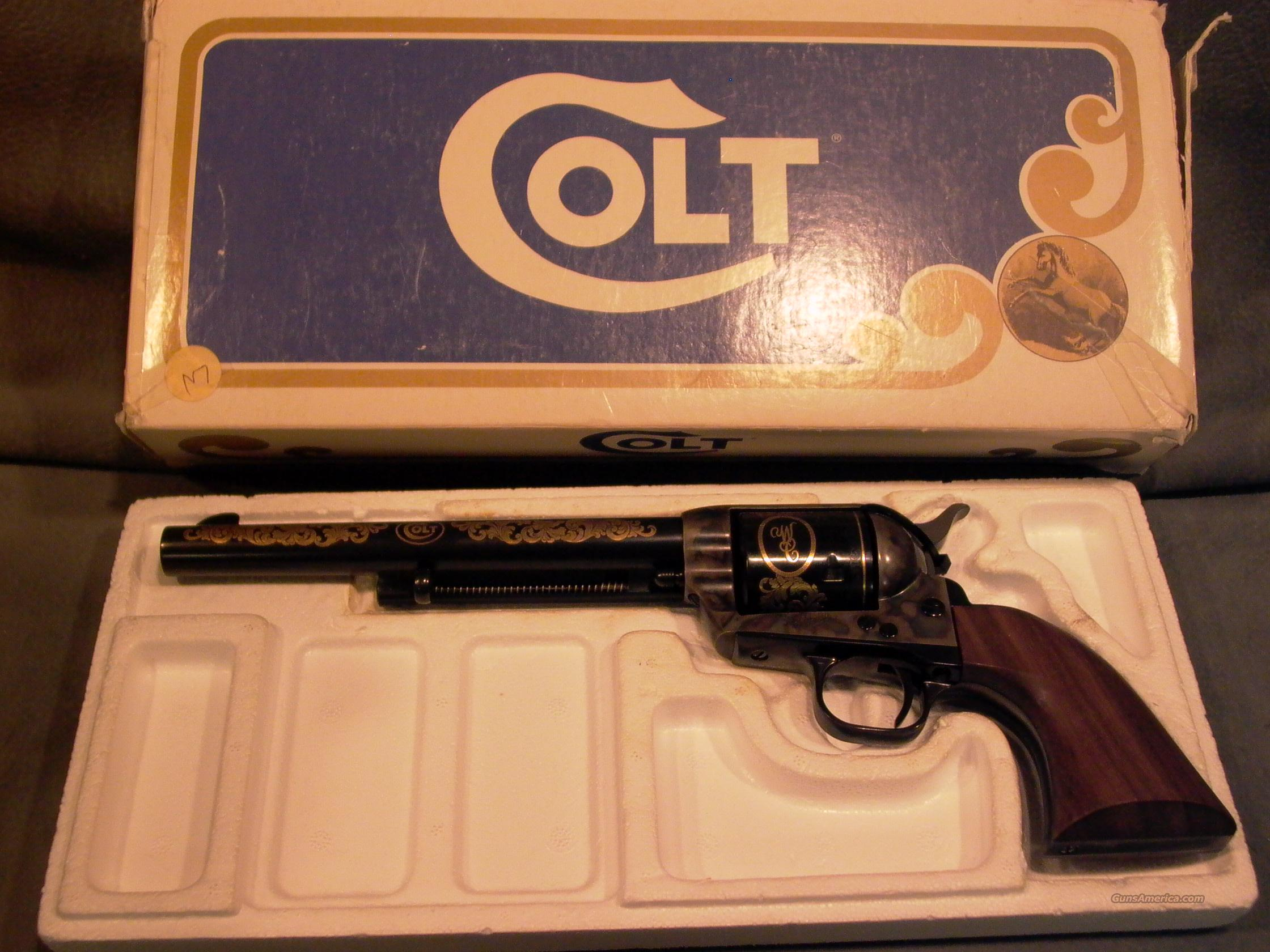 "Colt SAA 44-40 7 1/2"" with gold  Guns > Pistols > Colt Single Action Revolvers - 3rd Gen."