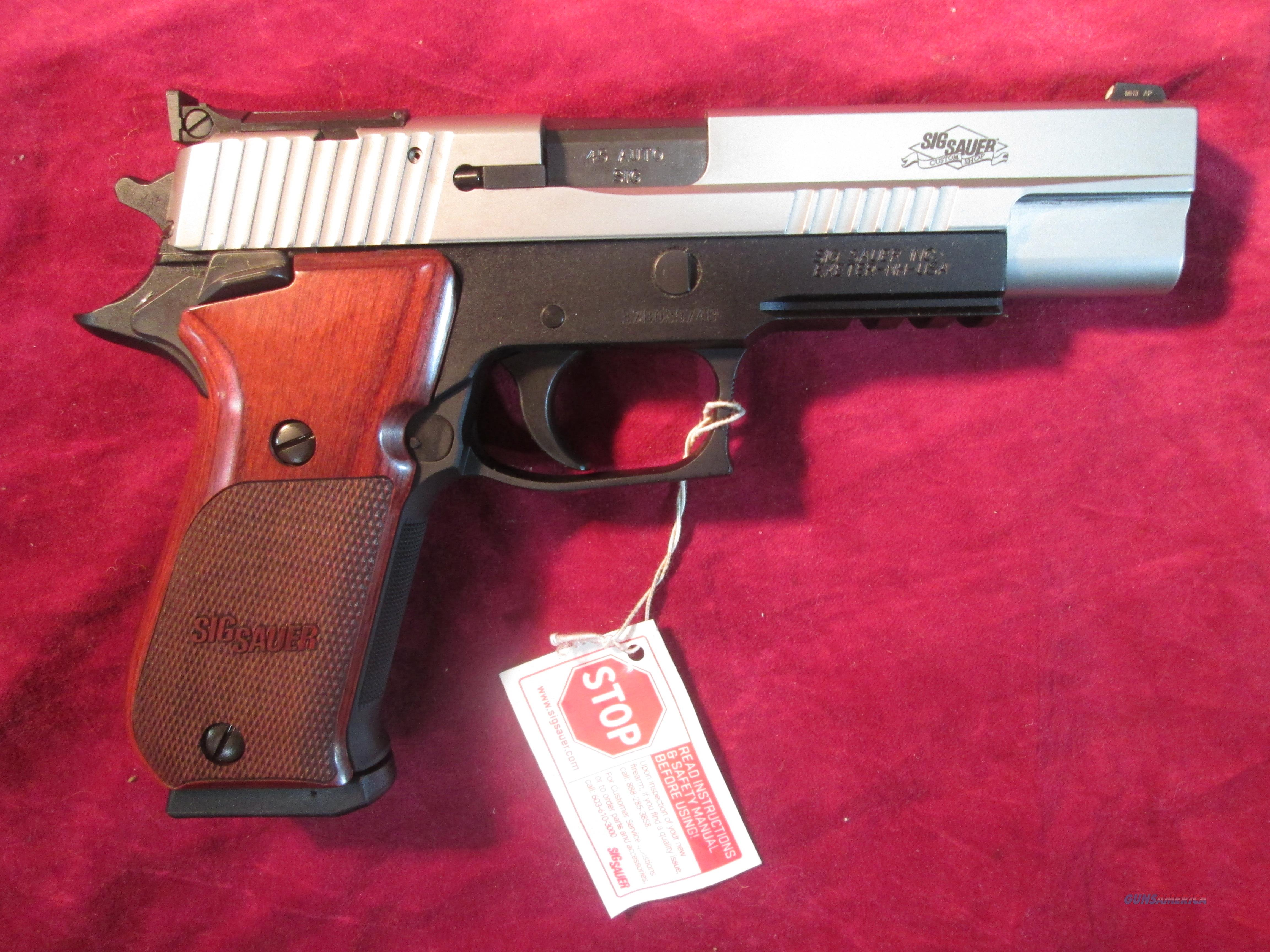 SIG SAUER 220 SUPER MATCH SAO TWO TONE 45ACP NEW (220BR5-45-TAS-SUP)   Guns > Pistols > Sig - Sauer/Sigarms Pistols > P220