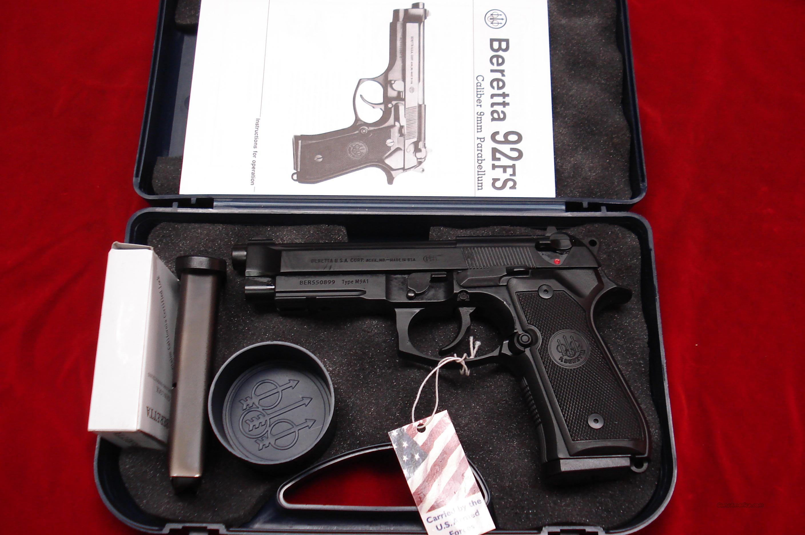 BERETTA M9A1 COMMERCIAL 9MM NEW IN THE BOX  Guns > Pistols > Beretta Pistols > Model 92 Series