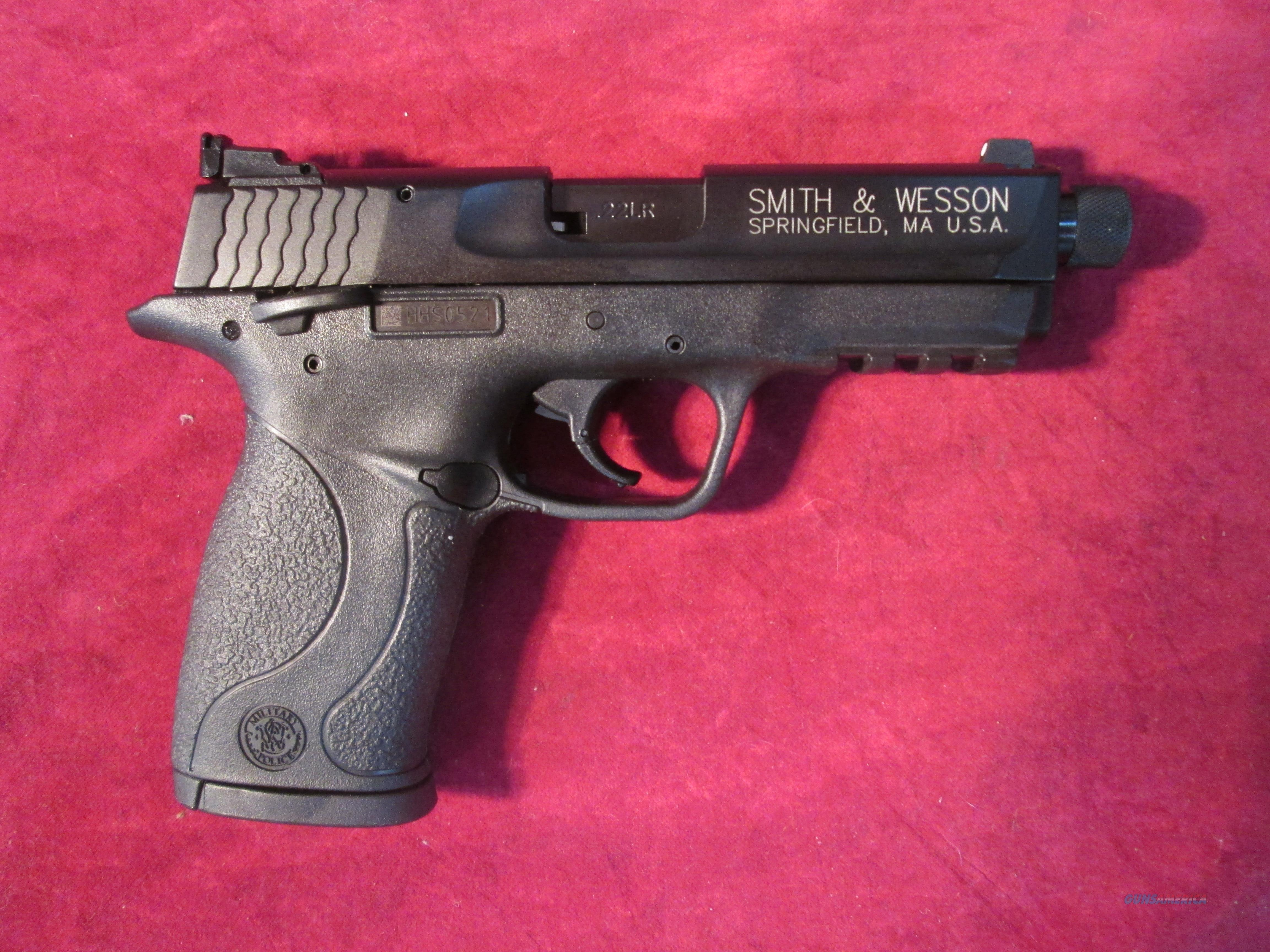 SMITH AND WESSON M&P 22 COMPACT THREADED BARREL 22LR NEW   (10199)   Guns > Pistols > Smith & Wesson Pistols - Autos > .22 Autos