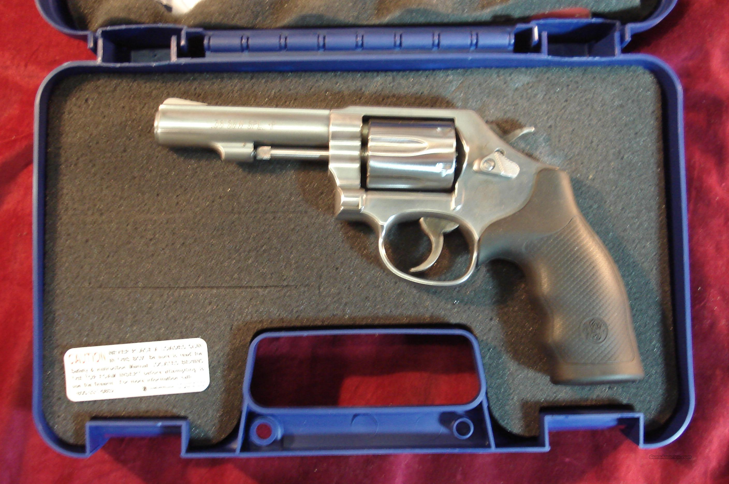 "SMITH AND WESSON MODEL 64 38+P CAL 4"" STAINLESS NEW   (162506)  Guns > Pistols > Smith & Wesson Revolvers > Full Frame Revolver"