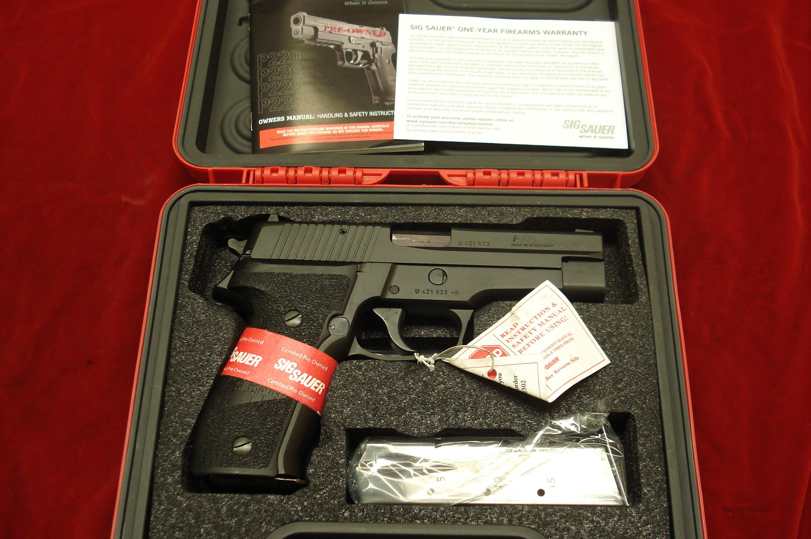 SIG SAUER P226 DAO 9MM CERTIFIED PREOWNED   Guns > Pistols > Sig - Sauer/Sigarms Pistols > P226