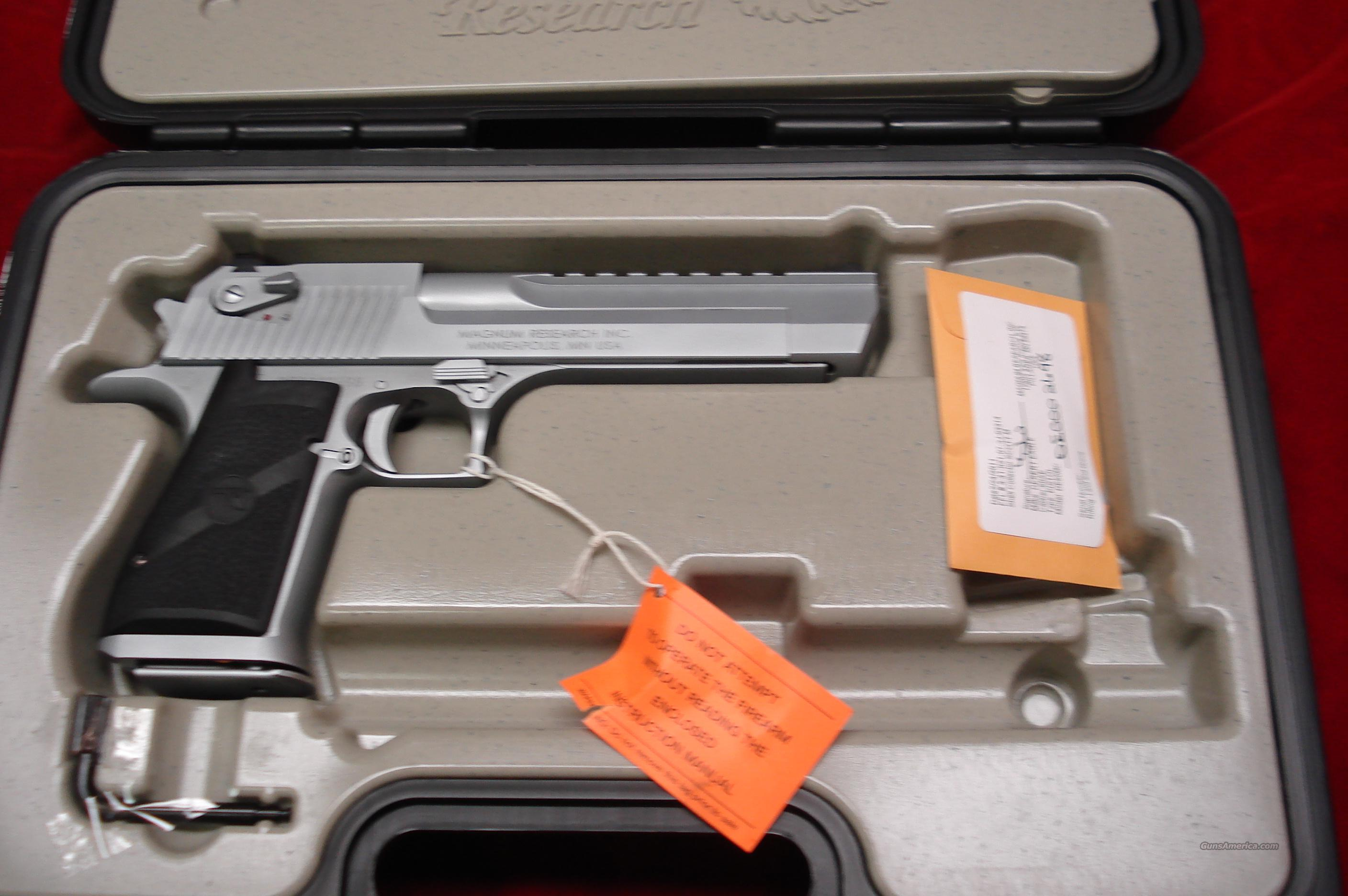 "MAGNUM RESEARCH DESERT EAGLE 50AE 6"" MATTE CHROME NEW   Guns > Pistols > Desert Eagle/IMI Pistols > Desert Eagle"