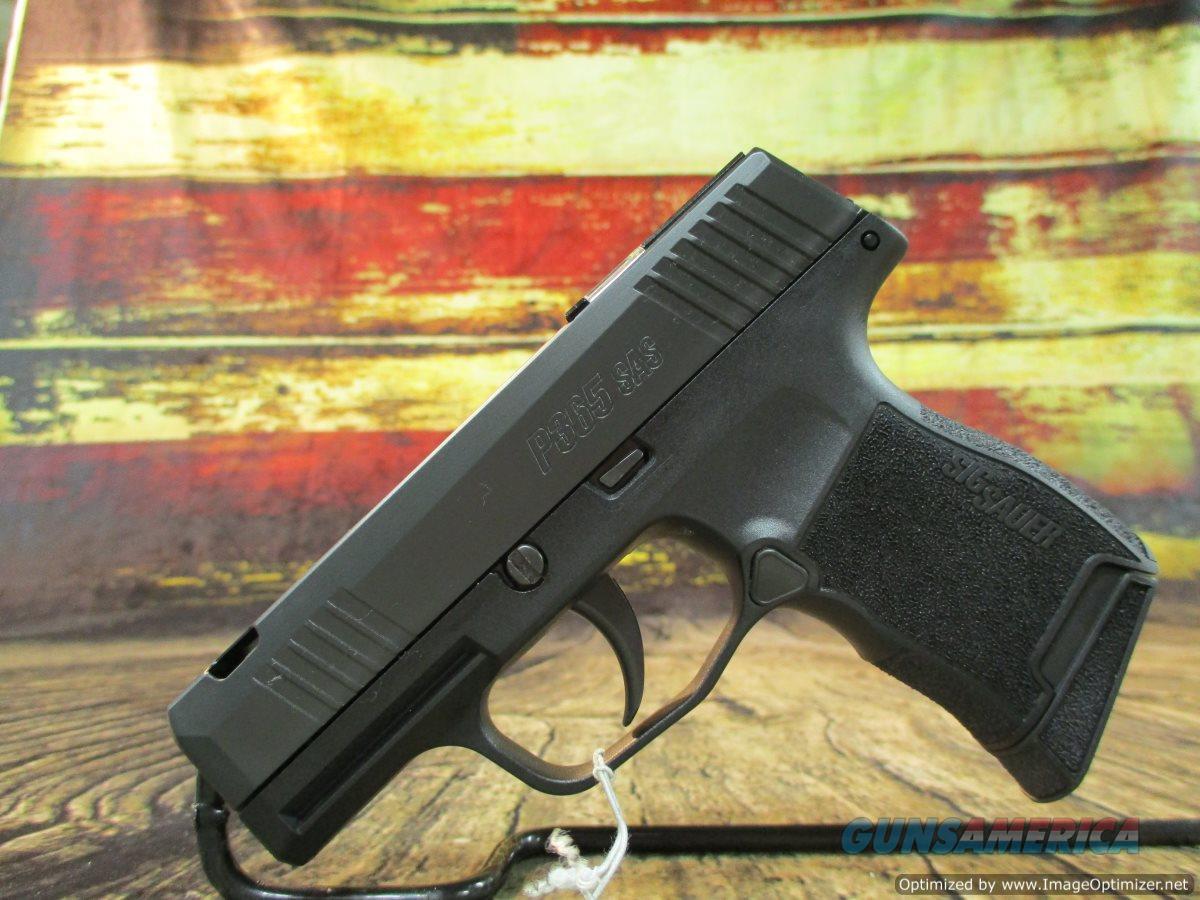 "Sig Sauer P365 SAS 9mm 3.1"" 10+1 Ported Bullseye Fiber Tritium Nightsights (365-9-SAS-C)  Guns > Pistols > Sig - Sauer/Sigarms Pistols > P365"