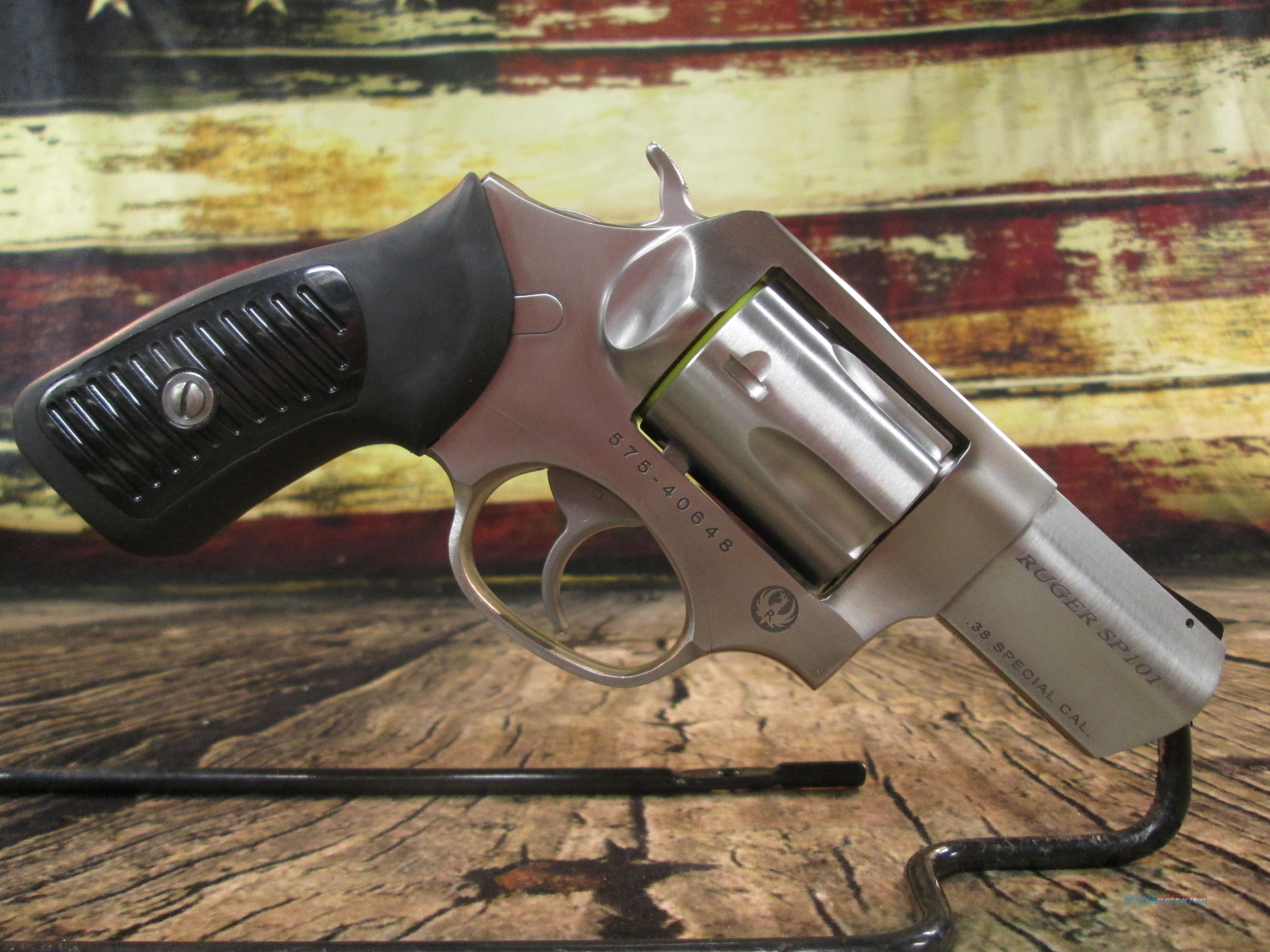 RUGER SP101 STAINLESS 38 SPL (05737) NEW  Guns > Pistols > Ruger Double Action Revolver > SP101 Type