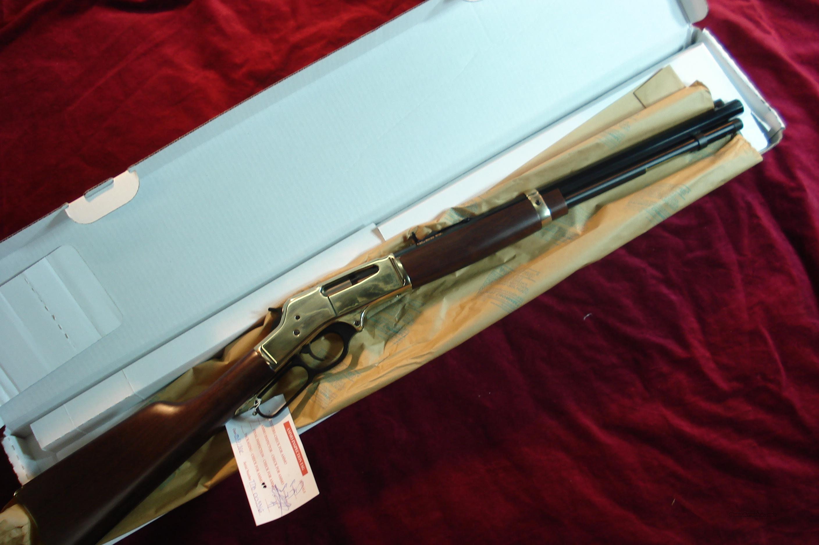 HENRY  BRASS RECEIVER 30-30 CAL.  OCTAGON BARREL LEVER ACTION RIFLE  NEW  (H009B)  Guns > Rifles > Henry Rifle Company