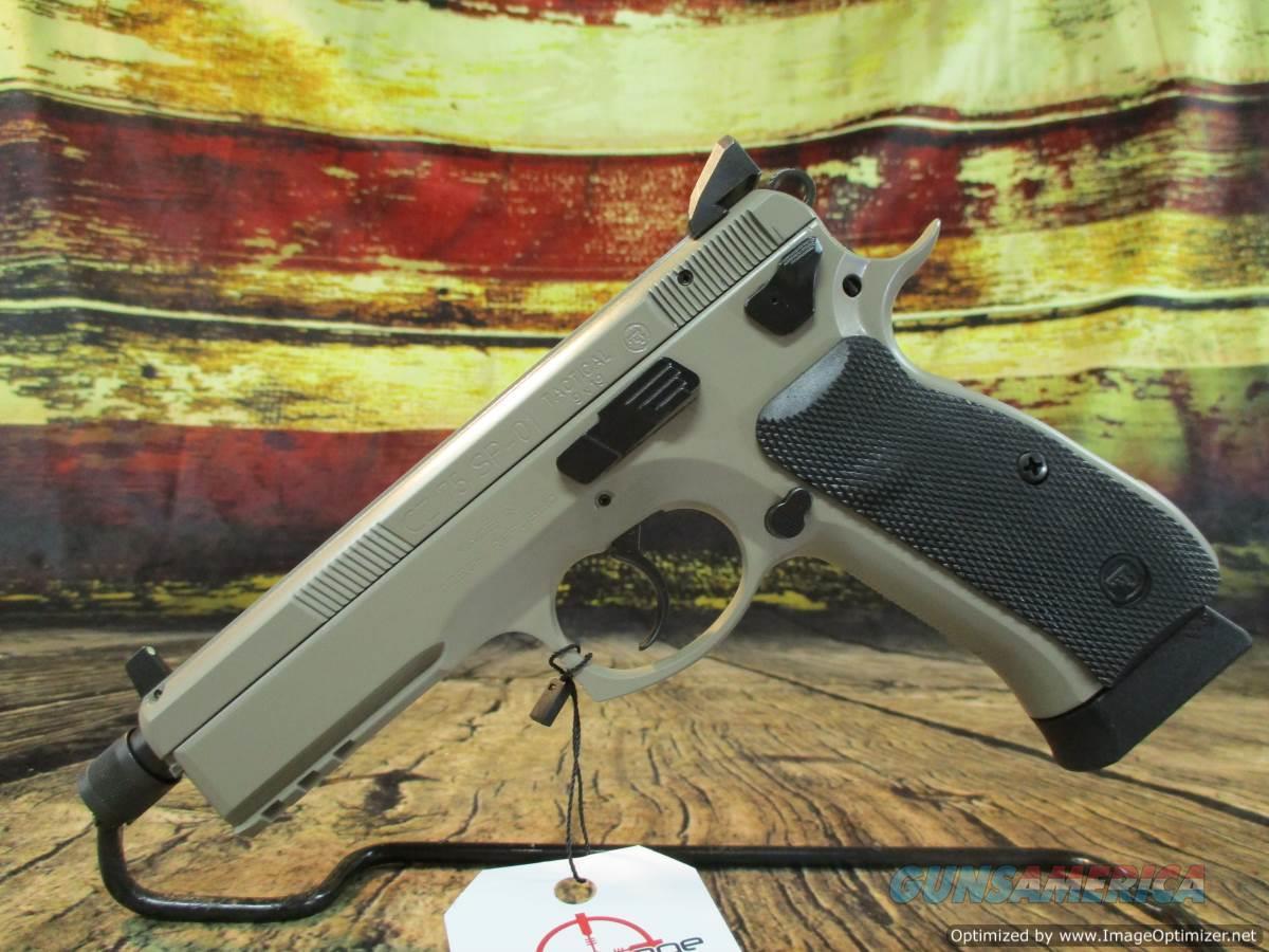 "CZ USA SP-01 Tactical 9MM Urban Grey 5.2"" Threaded New (91253)   Guns > Pistols > CZ Pistols"