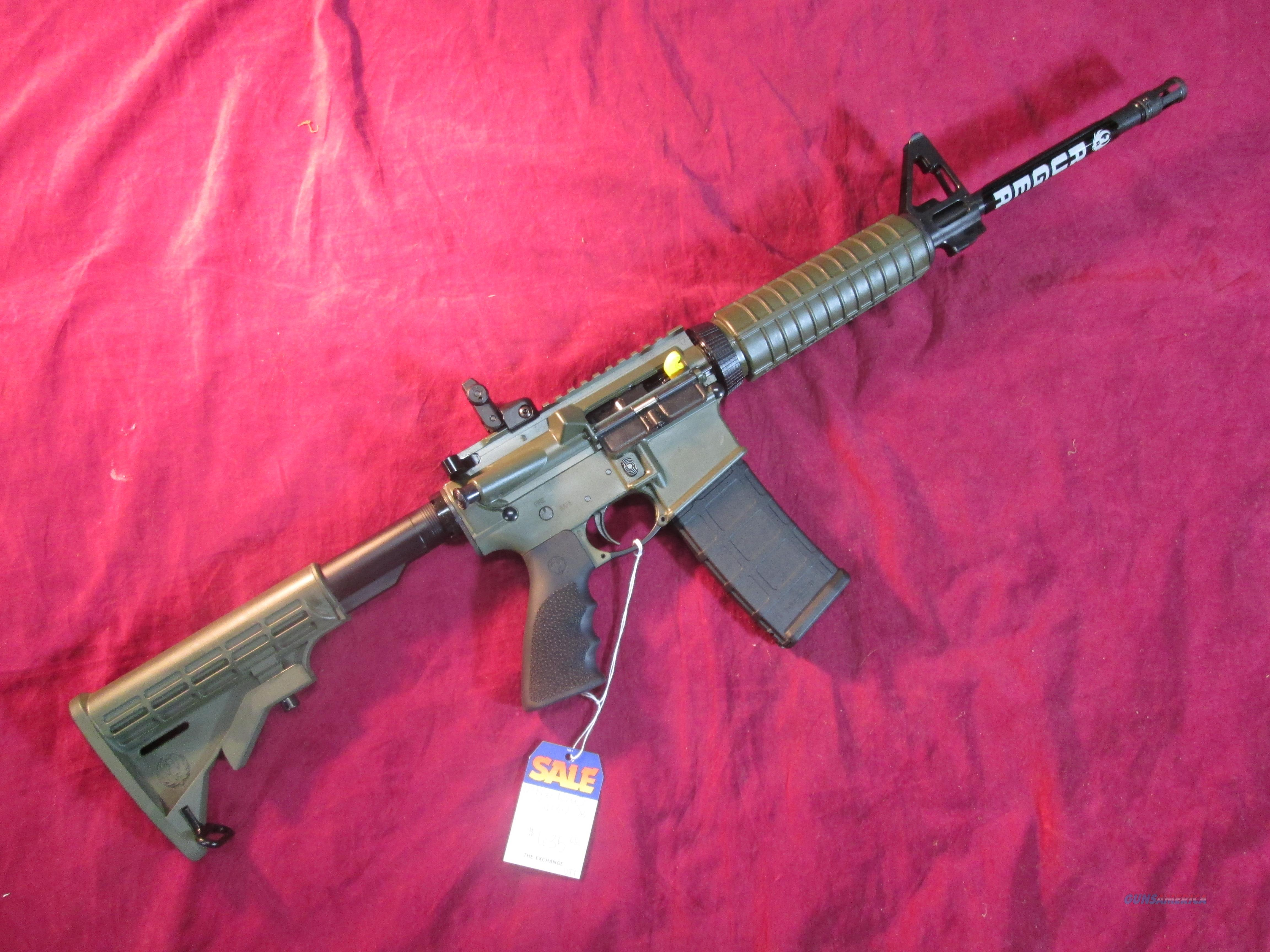 RUGER AR-556 5.56/223 cal AR15  OD GREEN CERAKOTE NEW (08504)  Guns > Rifles > Ruger Rifles > SR Series