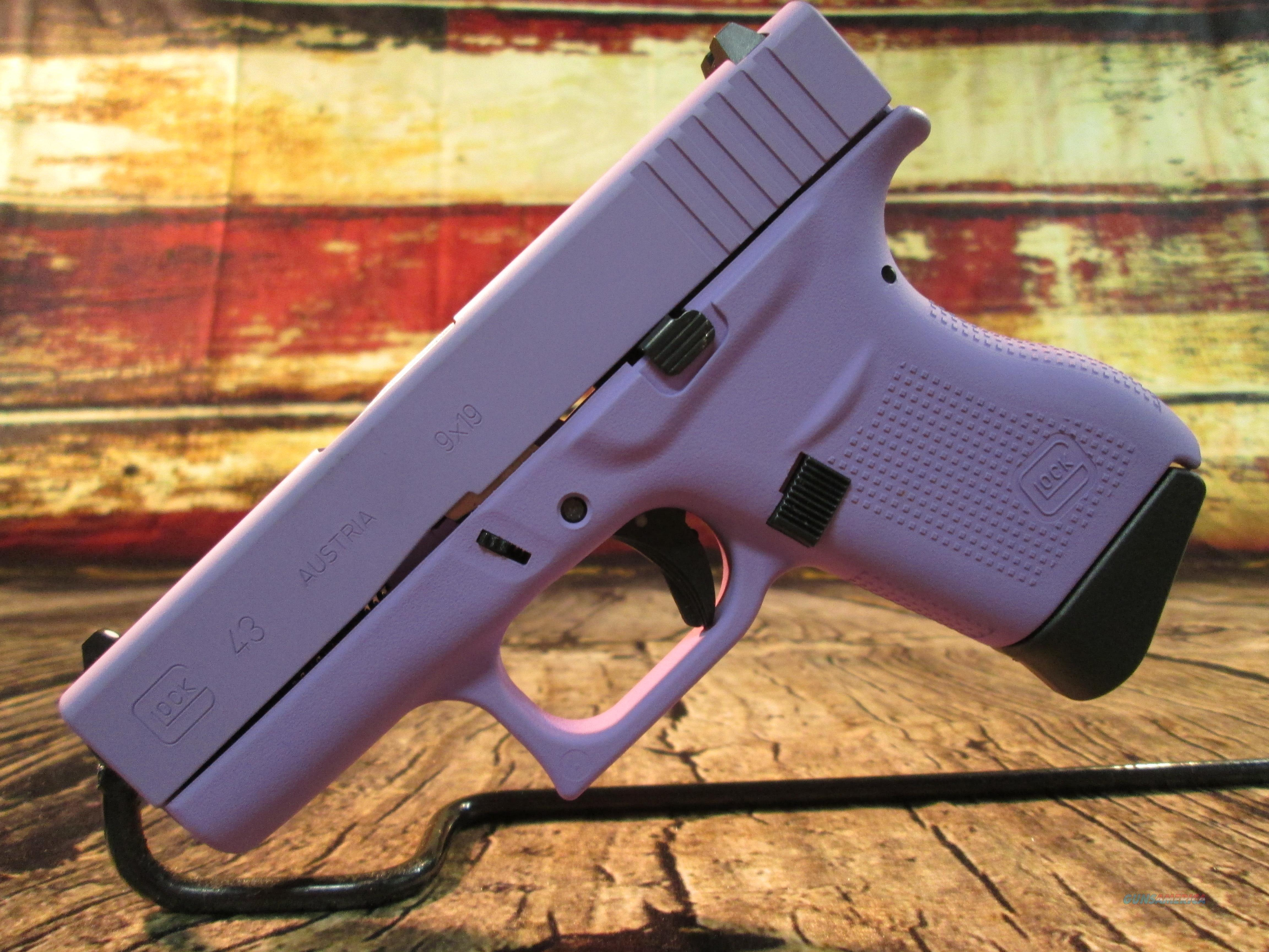"GLOCK 43 9MM ""ROYAL PURPLE"" AUSTRIAN MADE NEW (PI4350201RP)  Guns > Pistols > Glock Pistols > 43"