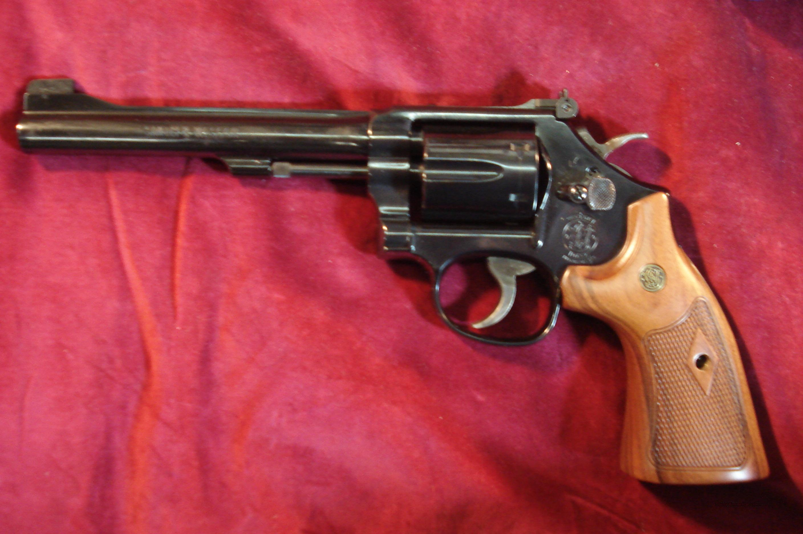 "SMITH AND WESSON MODEL 48 CLASSIC, 6"" 22MAG SINGLE/DOUBLE ACTION REVOLVER WOOD TARGET GRIP BLUED NEW  (150718)  Guns > Pistols > Smith & Wesson Revolvers > Full Frame Revolver"