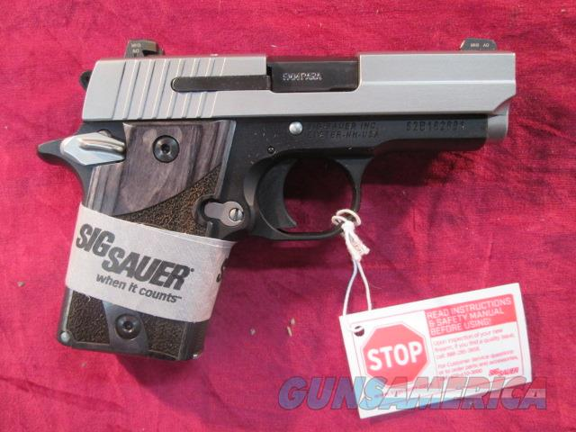 SIG SAUER 938 BLACKWOOD GRIPS TWO TONE 9MM NEW   (938-9-BG-AMBI)  Guns > Pistols > Sig - Sauer/Sigarms Pistols > Other