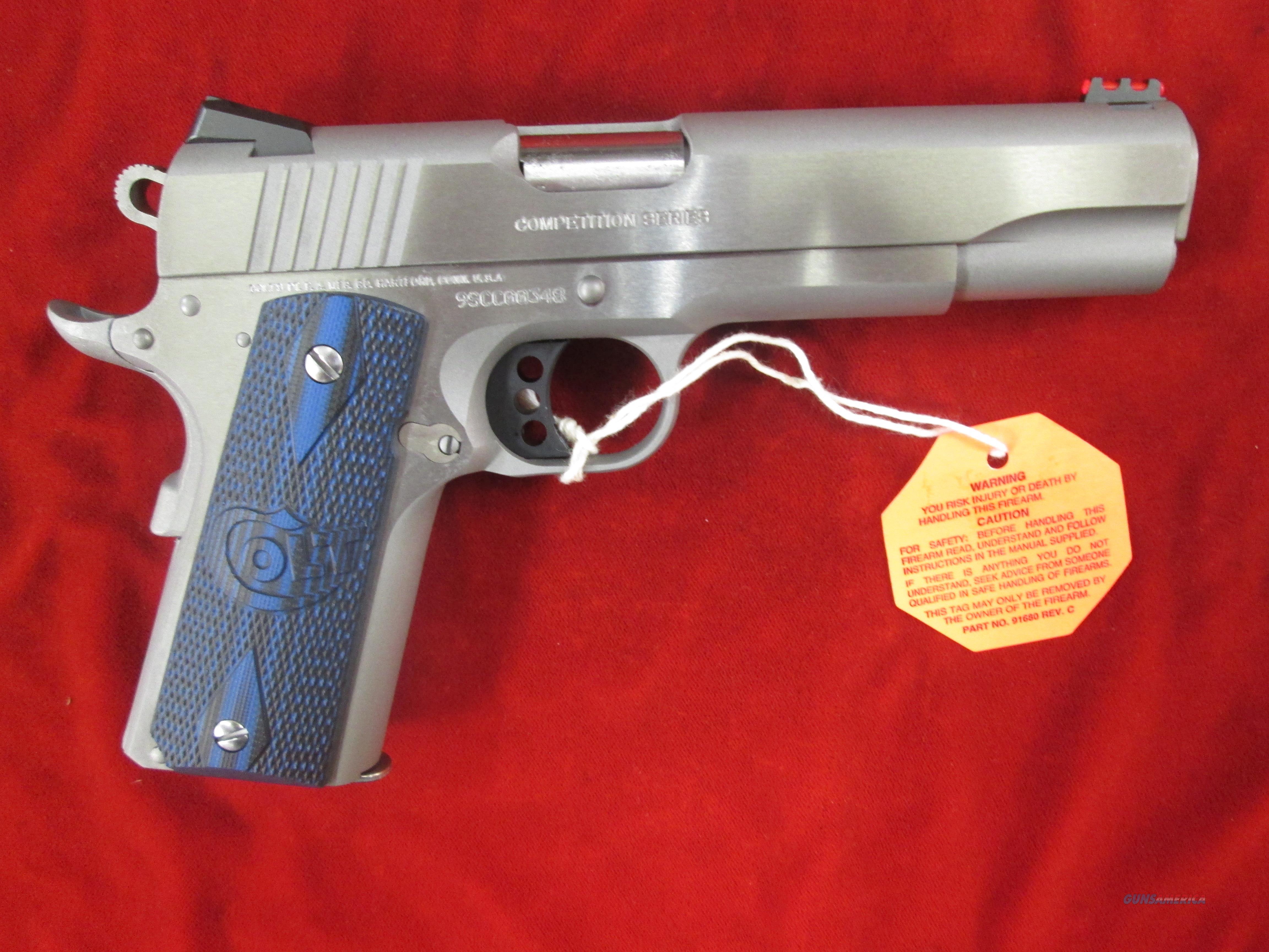 COLT COMPETITION PISTOL GOVERNMENT MODEL STAINLESS 9MM NEW (01082CCS)   Guns > Pistols > Colt Automatic Pistols (1911 & Var)
