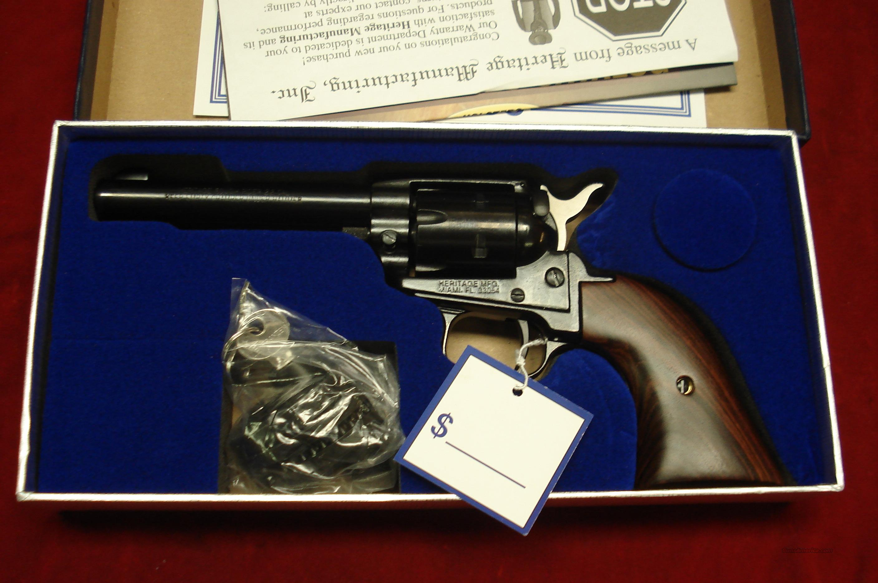 "HERITAGE ARMS ROUGH RIDER 22LR CAL.4.75"" BLUE NEW  (RR22B4)  Guns > Pistols > Heritage"