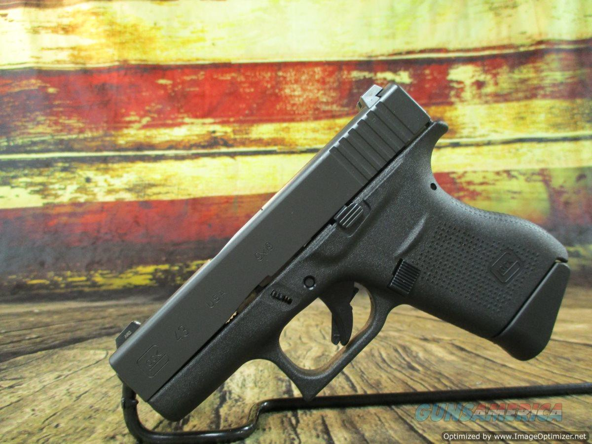 "Glock 43 Glock Night Sights 9mm 3.41"" 6+1 NEW (UI4350701)  Guns > Pistols > Glock Pistols > 43/43X"