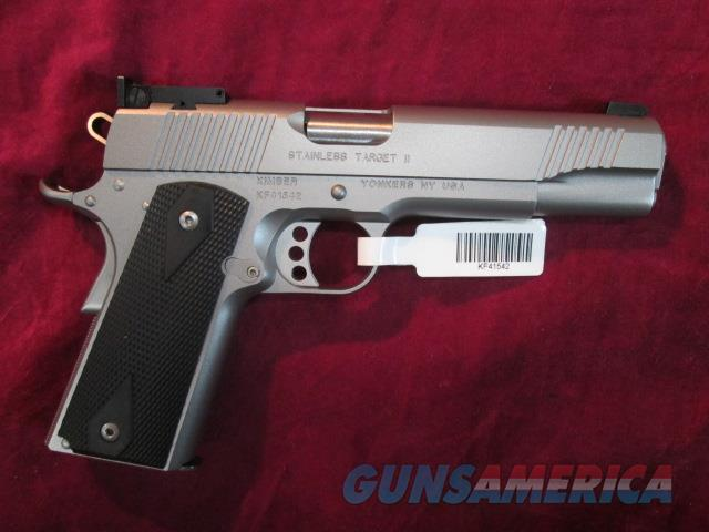 KIMBER STAINLESS TARGET II 10MM NEW  Guns > Pistols > Kimber of America Pistols
