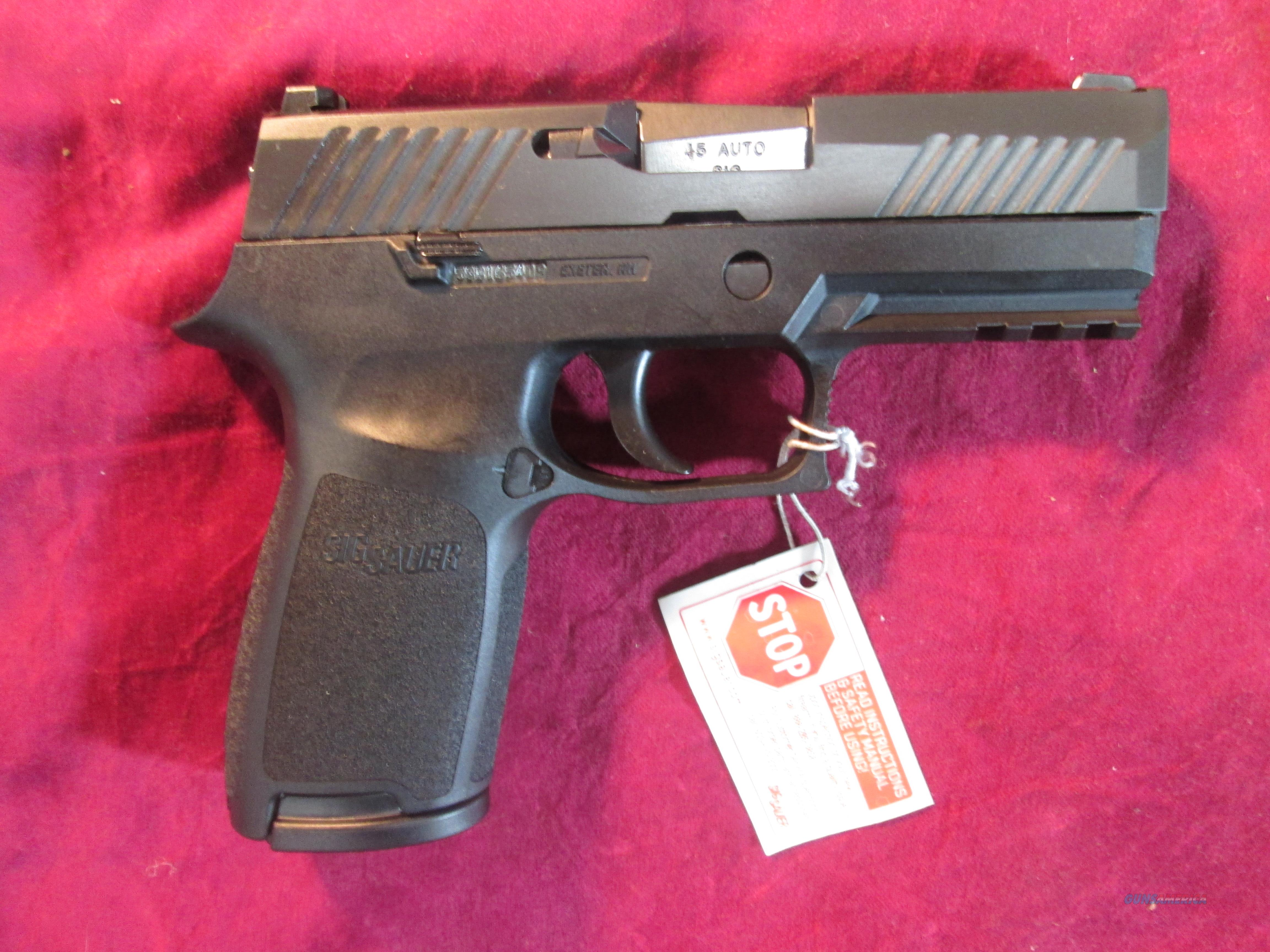 SIG SAUER P320 CARRY 45ACP STRIKER FIRED PISTOL CONTRAST SIGHTS NEW (320CA-45-B)   Guns > Pistols > Sig - Sauer/Sigarms Pistols > P320